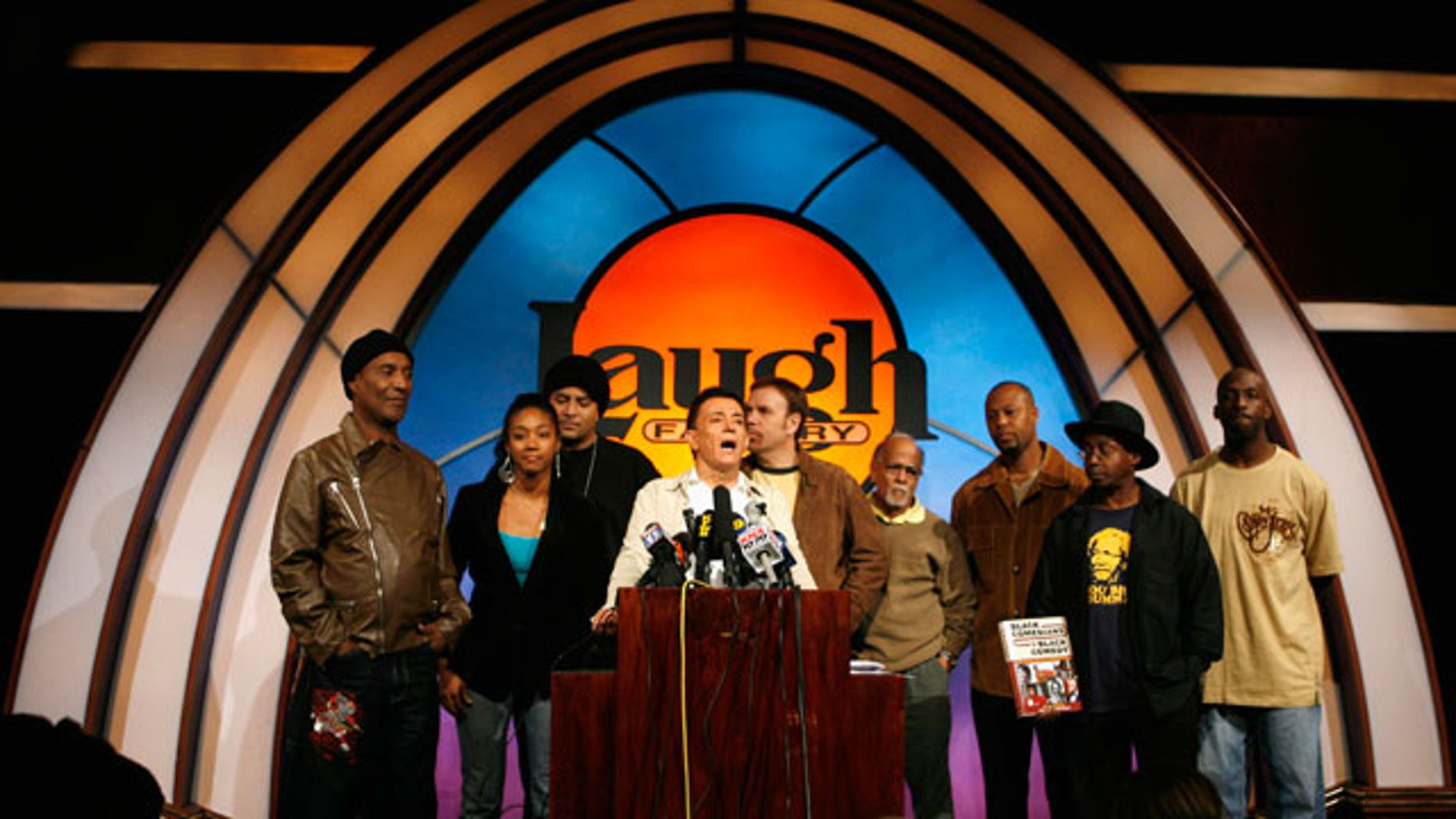 FILE: Jamie Masada speaks at the Laugh Factory comedy club in West Hollywood. (Reuters)