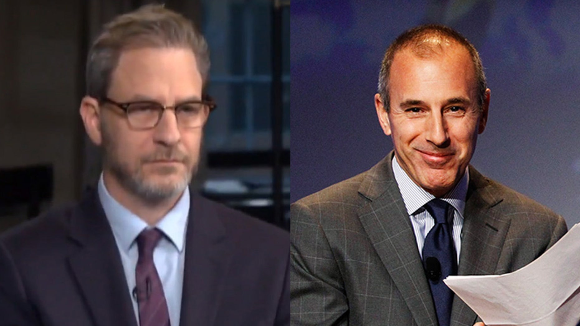 "Attorney Ari Wilkenfeld (left) said during an interview on ""Today"" that his client is ""living in constant fear"" after accusing Matt Lauer (right) of ""inappropriate sexual behavior."""