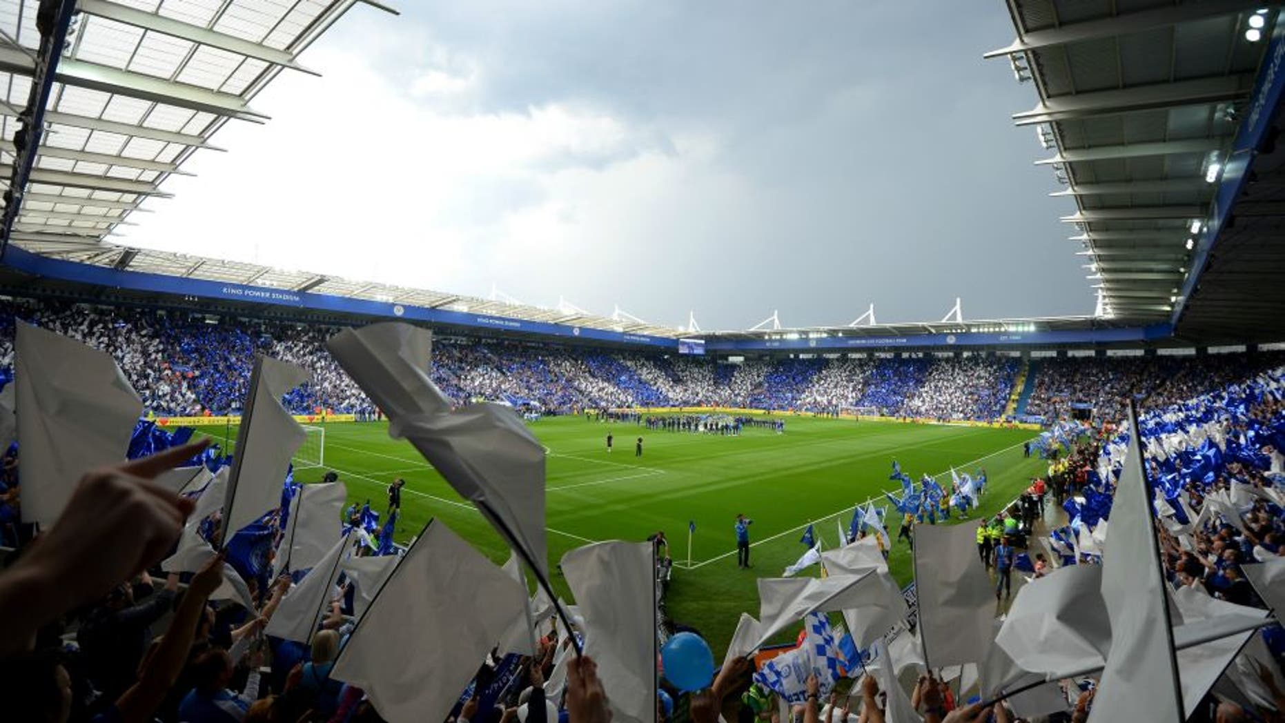 xxxx during the Barclays Premier League match between Leicester City and Everton at The King Power Stadium on May 7, 2016 in Leicester, United Kingdom.