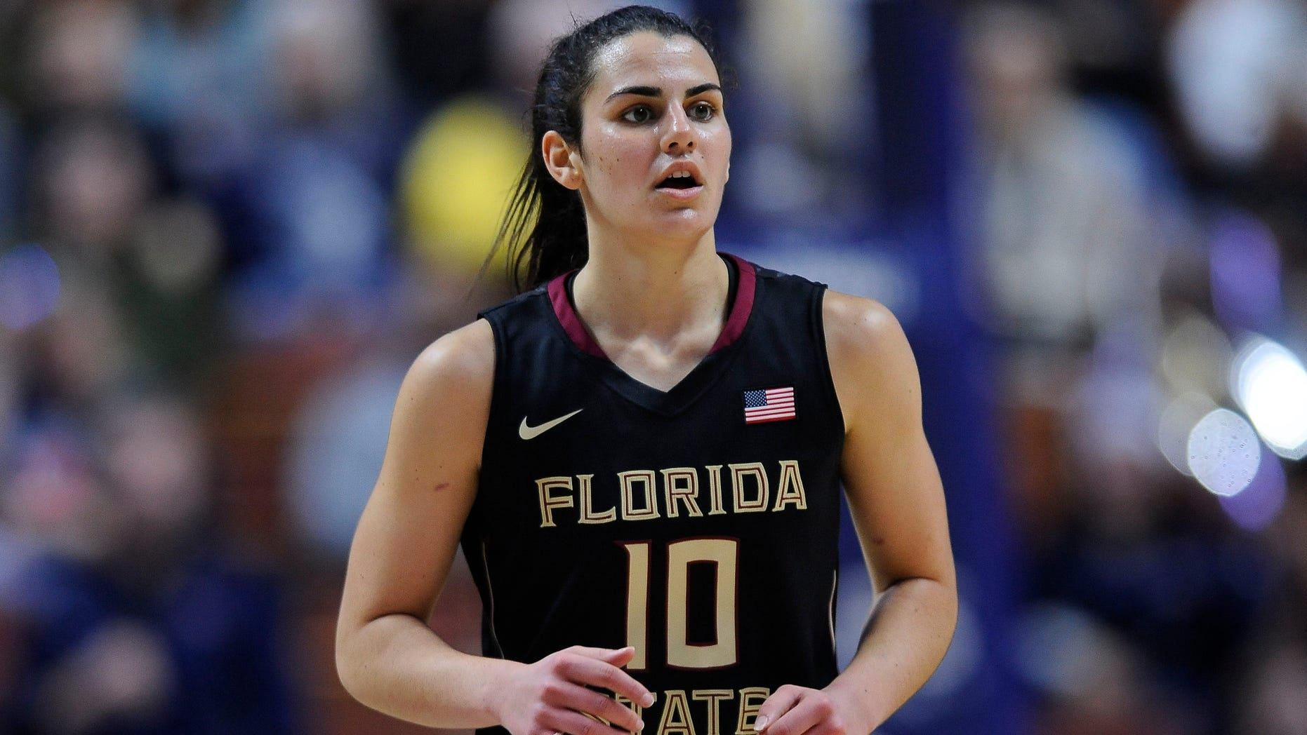 December 11, 2015: Florida State Seminoles Guard Leticia Romero (10) during the game as the Uconn Huskies take on the Florida State Seminoles at the Mohegan Sun Arena in Uncasville, Connecticut. (Photo by Williams Paul/Icon Sportswire) (Photo by Williams Paul/Icon Sportswire/Corbis via Getty Images)