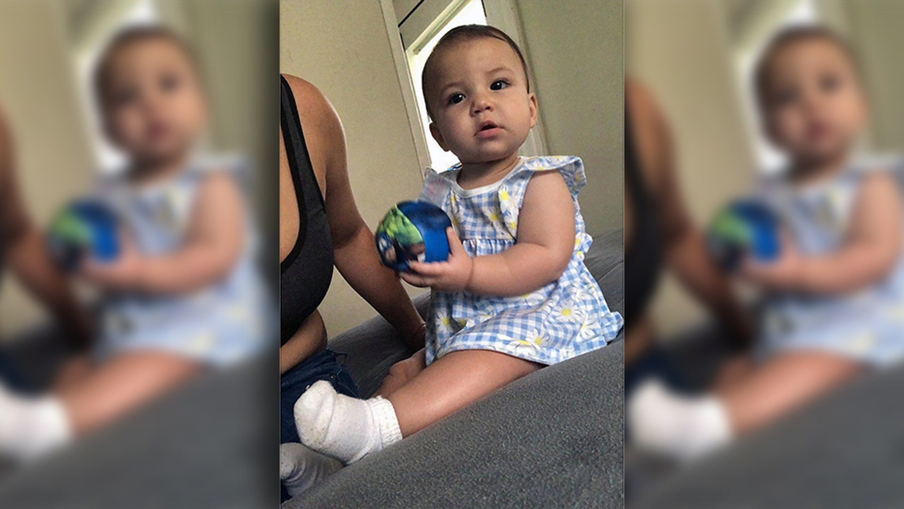 Liana Valino, a 9-month-old in Florida, was fatally mauled by a pit bull as she sat in a bouncy chair. (Facebook)