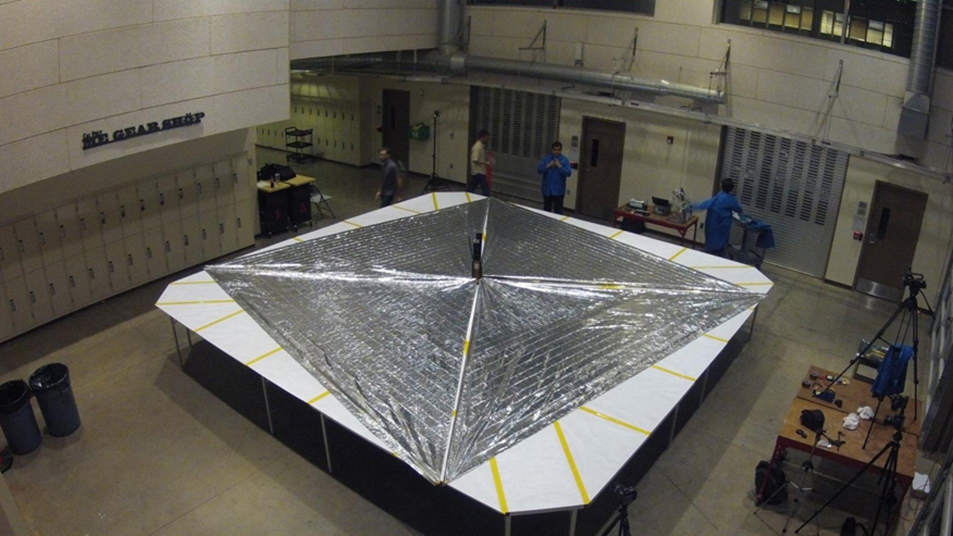 The Planetary Society's LightSail during its day-in-the-life test.