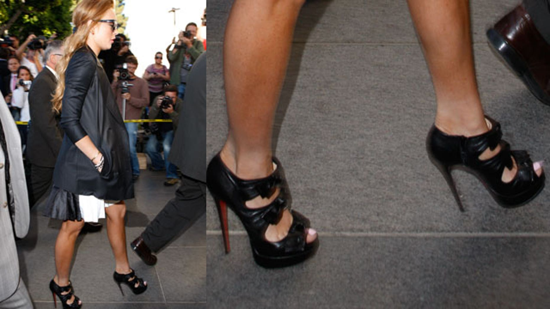 Lindsay Lohan's $1200 shoes could indicate she wasn't expecting to go to jail again.