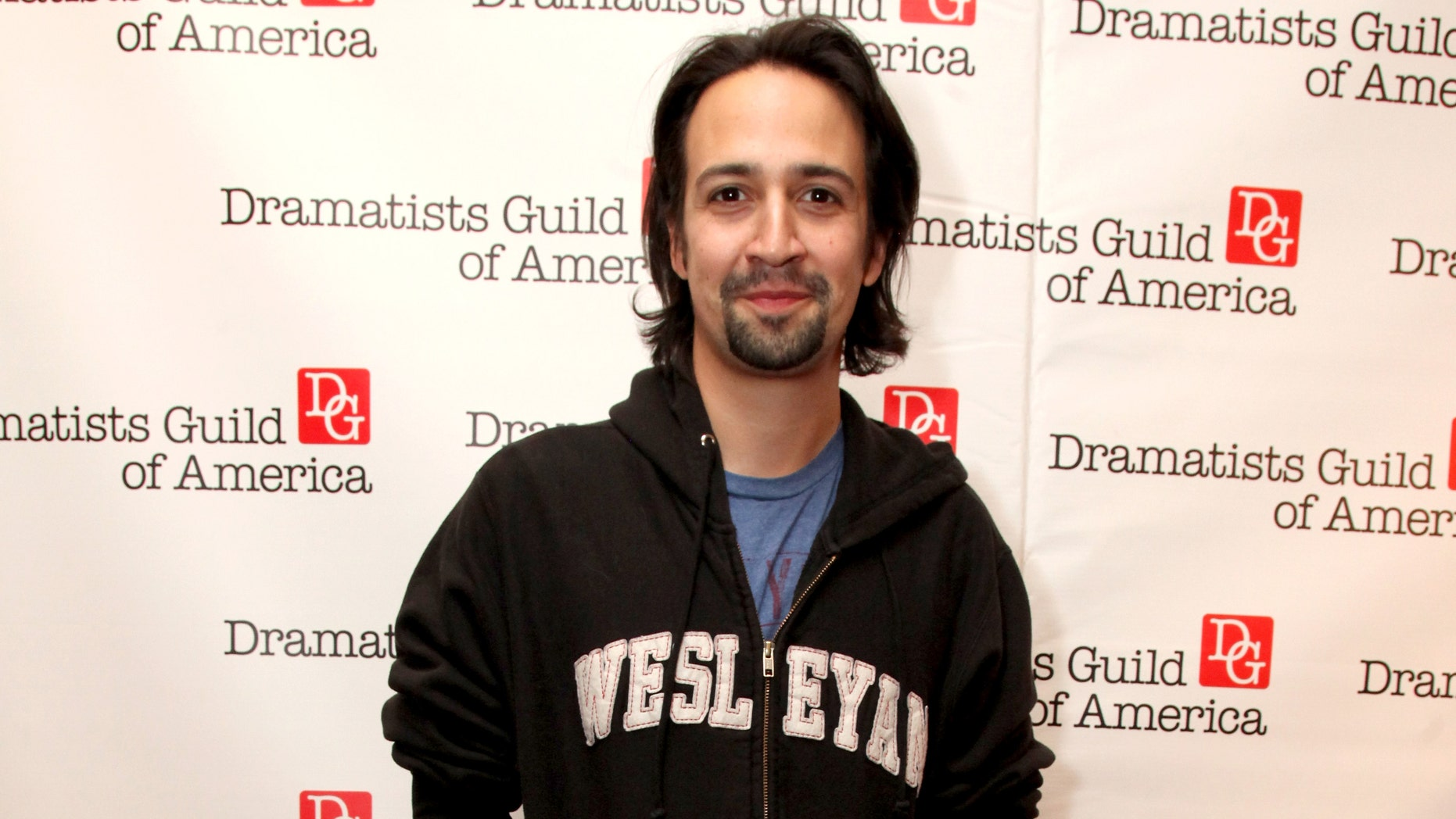 NEW YORK, NY - APRIL 21:  Lin-Manuel Miranda attends the first Anti-Piracy Awareness Event at The Dramatists Guild of America on April 21, 2014 in New York City.  (Photo by Donald Bowers/Getty Images for The Dramatists Guild)