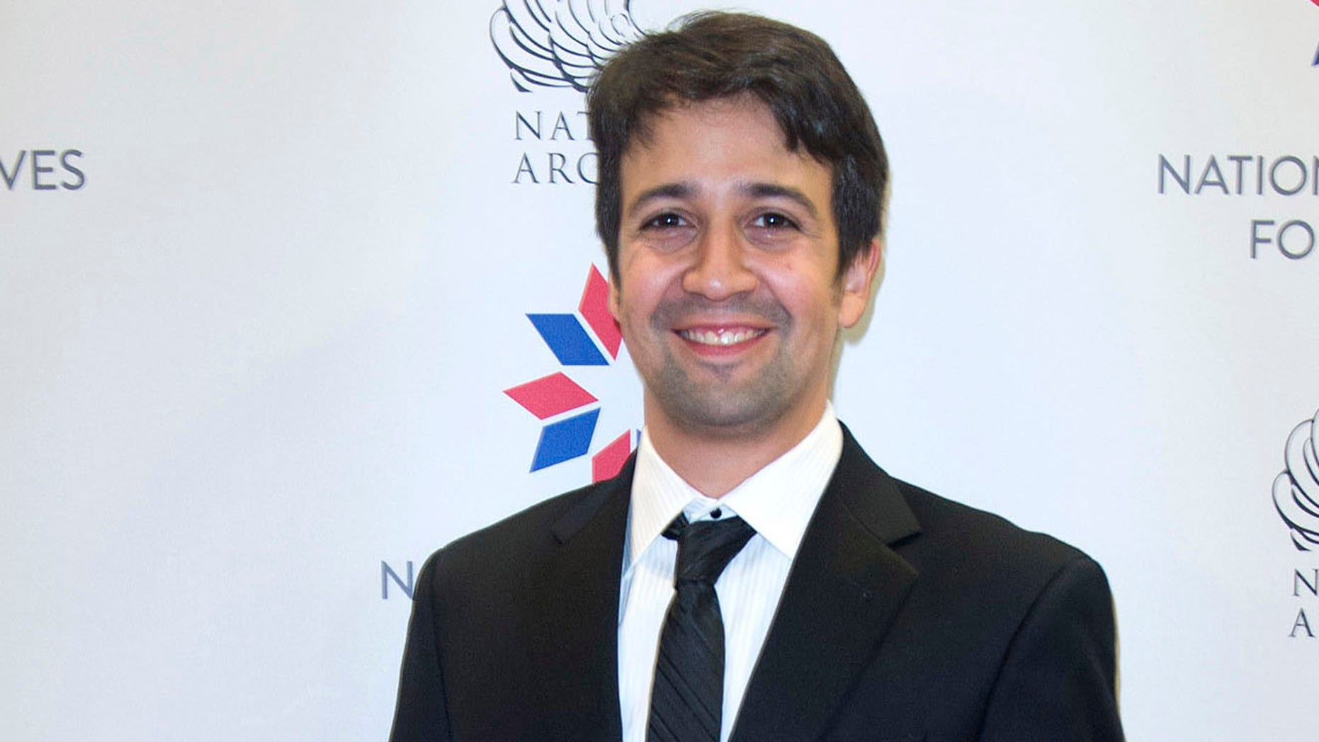 "WASHINGTON, DC - SEPTEMBER 25: Playwright, lyricist, composer and actor Lin-Manuel Miranda arrives at the National Archives Foundation Honors ""Hamilton's"" Lin-Manuel Miranda, Thomas Kail & Ron Chernow at the National Archives Museum on September 25, 2016 in Washington, DC.  (Photo by Leigh Vogel/Getty Images for National Archives Foundation)"