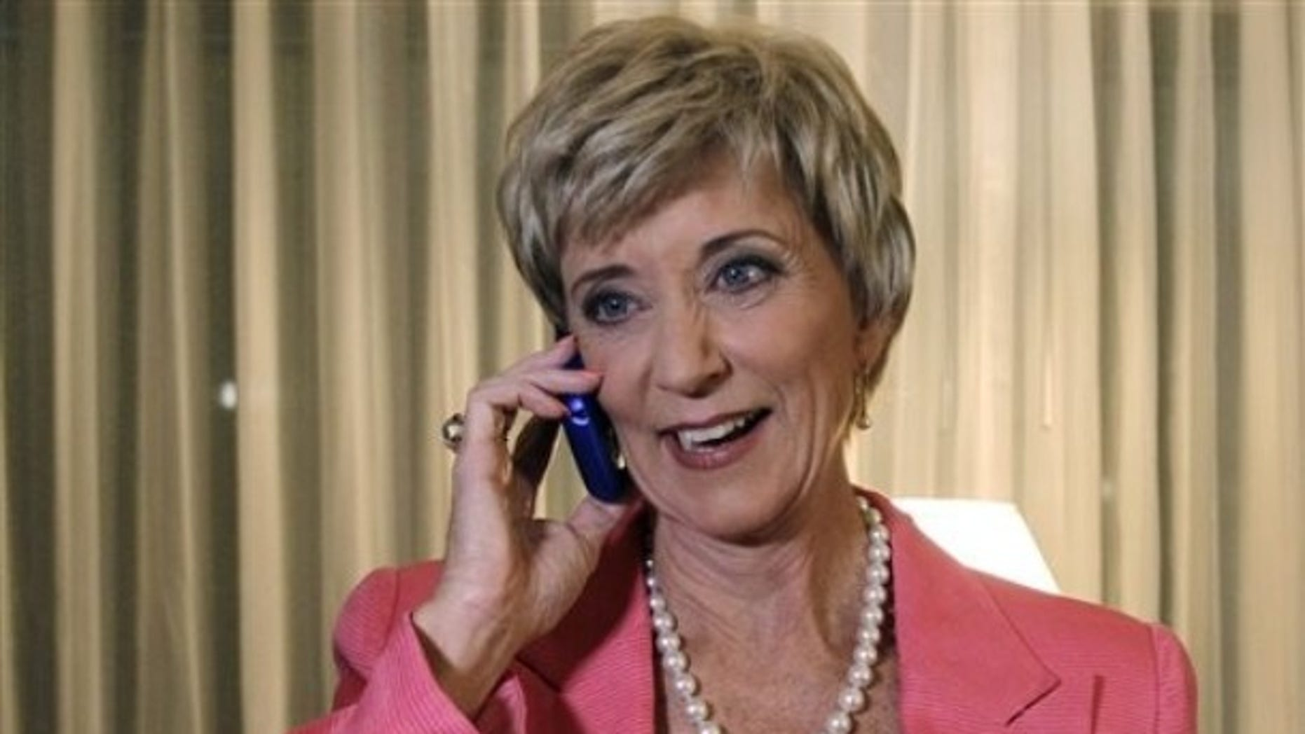 FILE: Aug. 10, 2010: Republican candidate for U.S. Senate Linda McMahon, a former wrestling executive, in Cromwell, Conn.