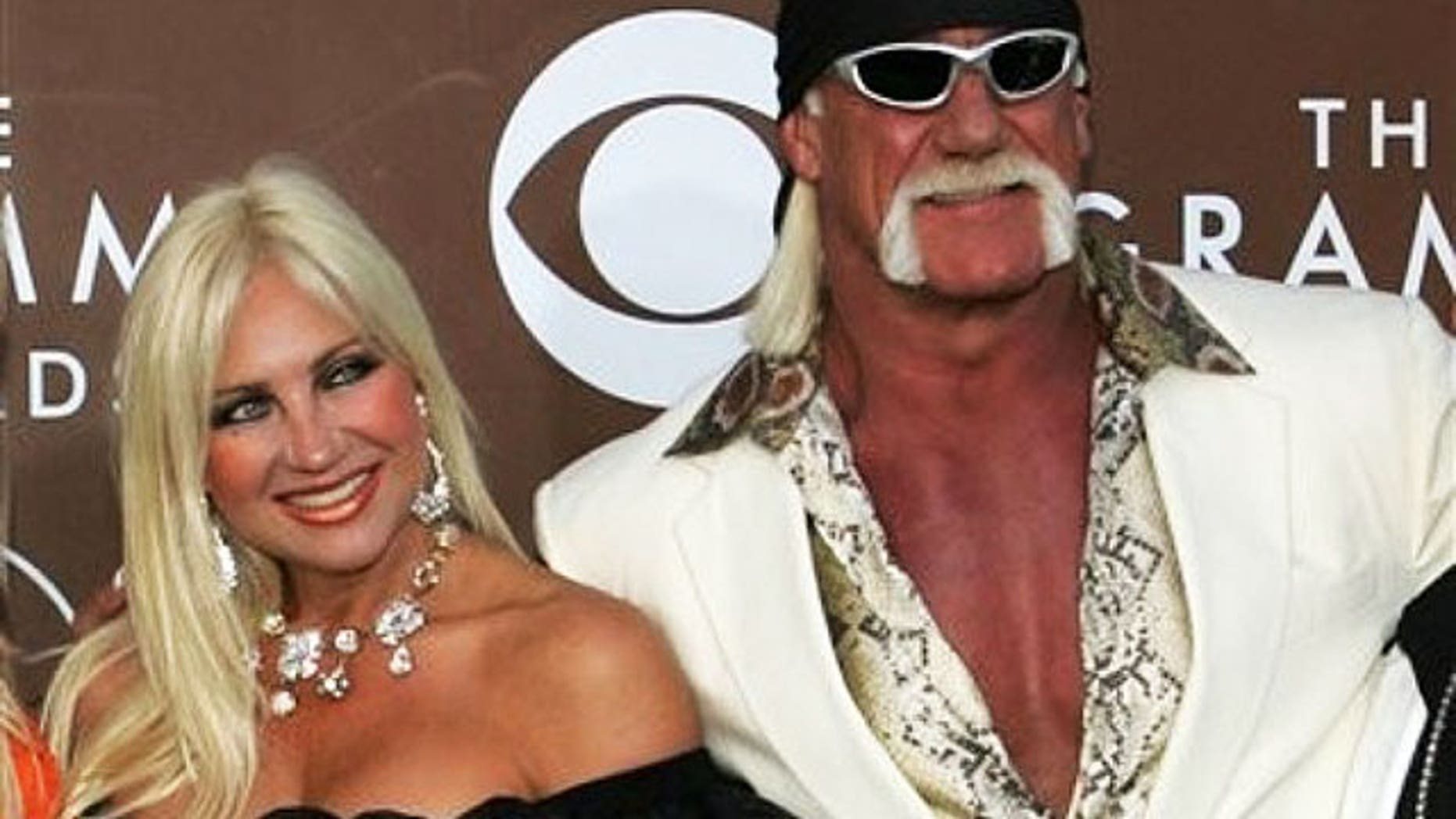 Feb. 8, 2006: Linda and Hulk Hogan attend the Grammy Awards in happier times.