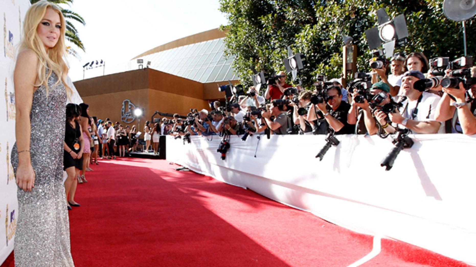 June 6: Lindsay Lohan arrives at the MTV Movie Awards in Universal City, Calif. (AP)
