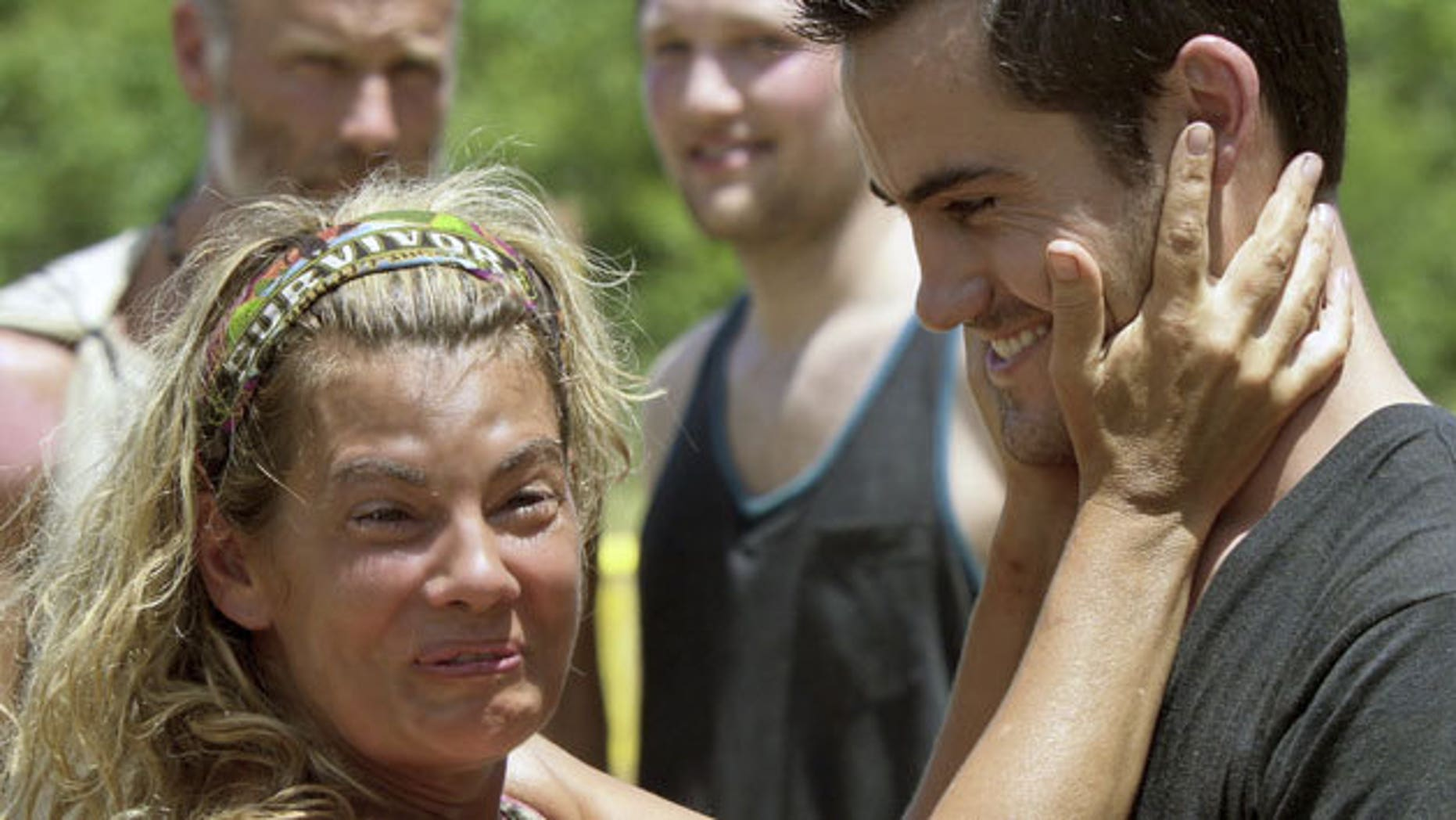 "Lisa Whelchel and Justice Coleman during ""Survivor: Philippines."""
