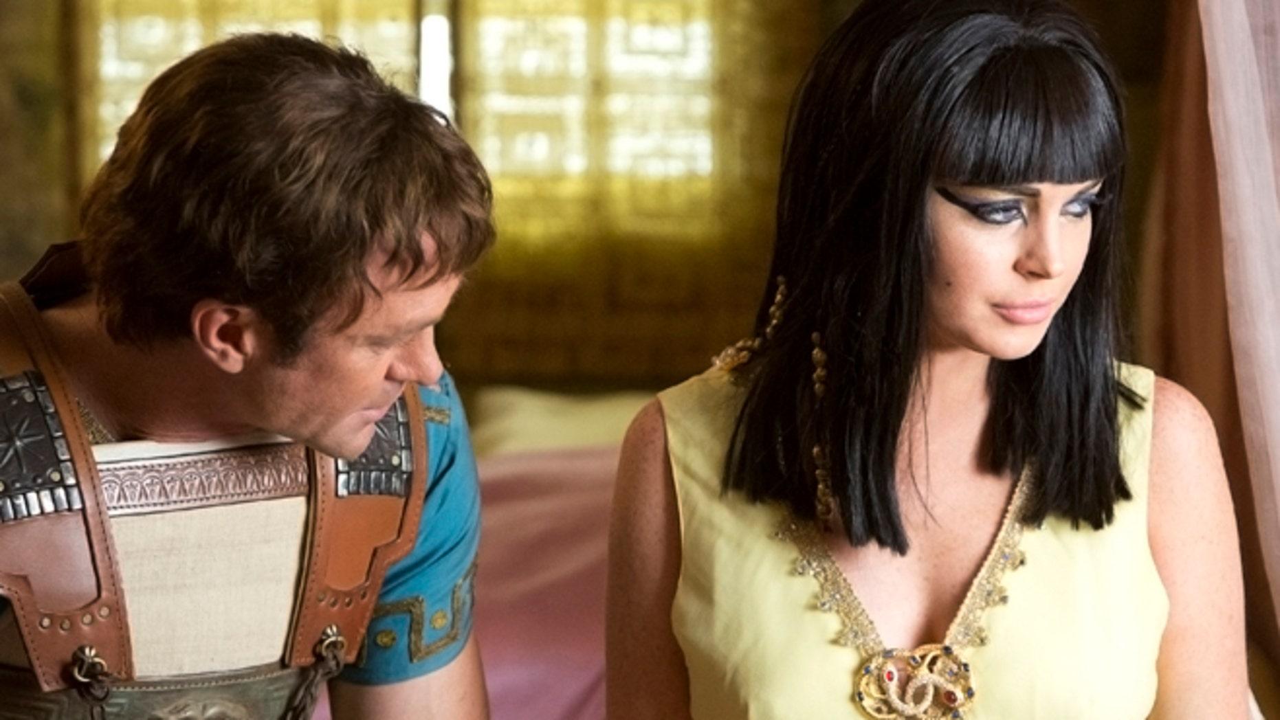 "Lindsay Lohan as Elizabeth Taylor in Lifetime's ""Liz & Dick."""