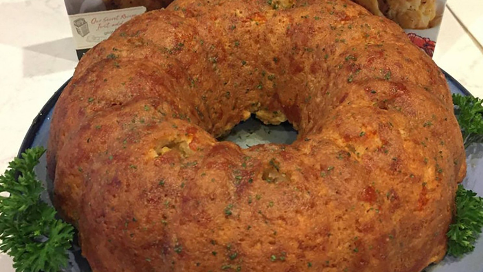 """After a Reddit user's sister left a """"gag gift"""" of Red Lobster's Cheddar Bay Biscuit mix, he bought another box and turned it into a carb-heavy, sodium-rich biscuit bundt cake."""