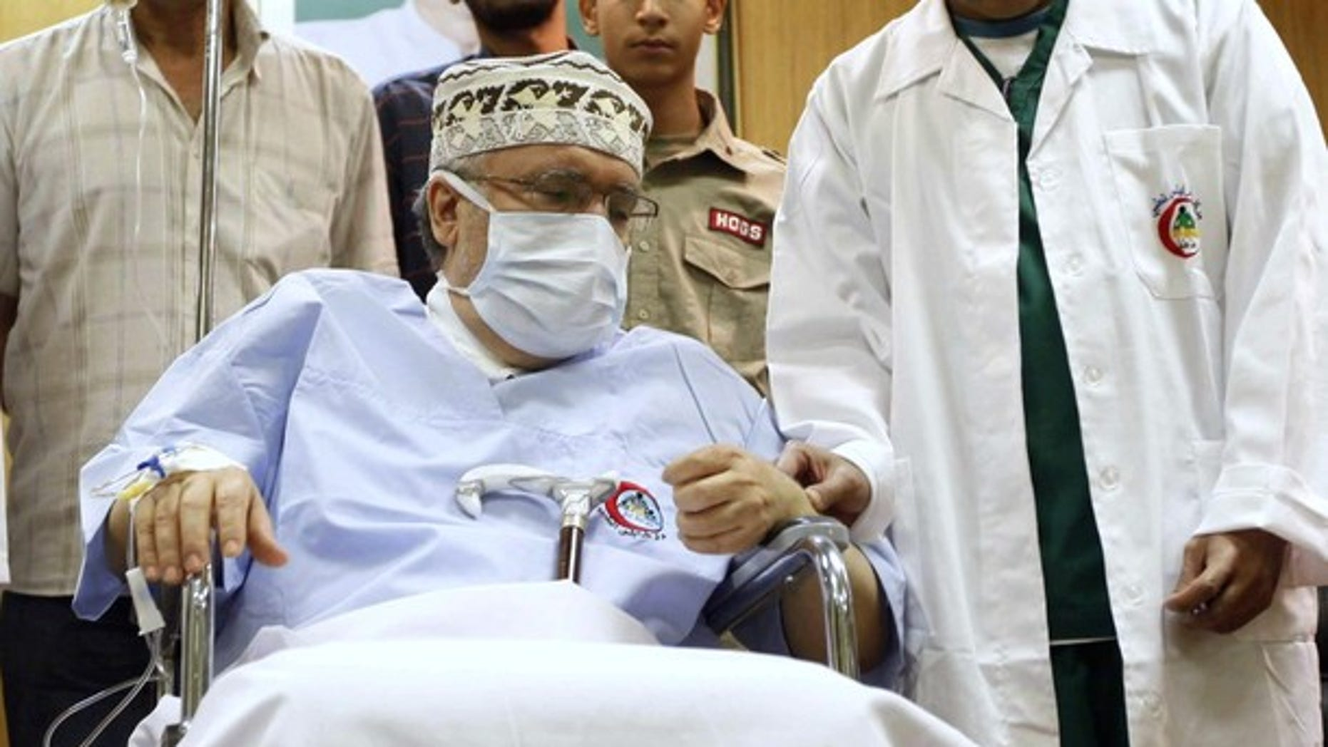 Sept. 9, 2009: Abdel Basset al-Megrahi is seen in his room at a hospital in Tripoli.