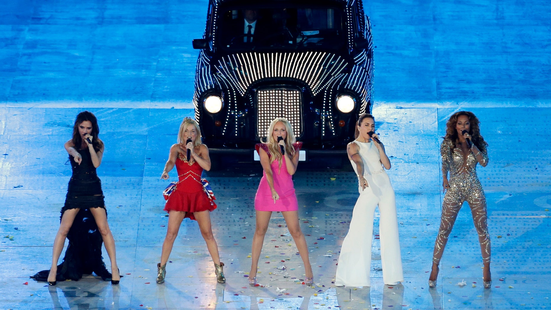 Aug. 12, 2012: The Spice Girls perform during the Closing Ceremony at the 2012 Summer Olympics in London.
