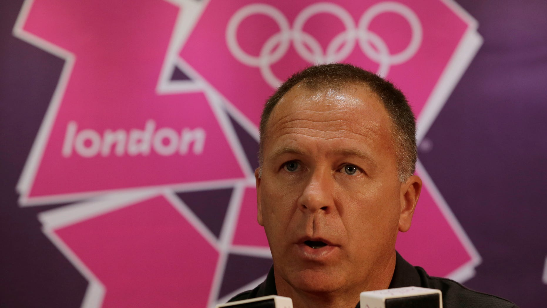 July 24, 2012: Mano Menezes, head coach for the Brazilian men's soccer team talks to reporters during a press conference at the Millennium stadium, in Cardiff, Wales ahead of the 2012 Summer Olympics.
