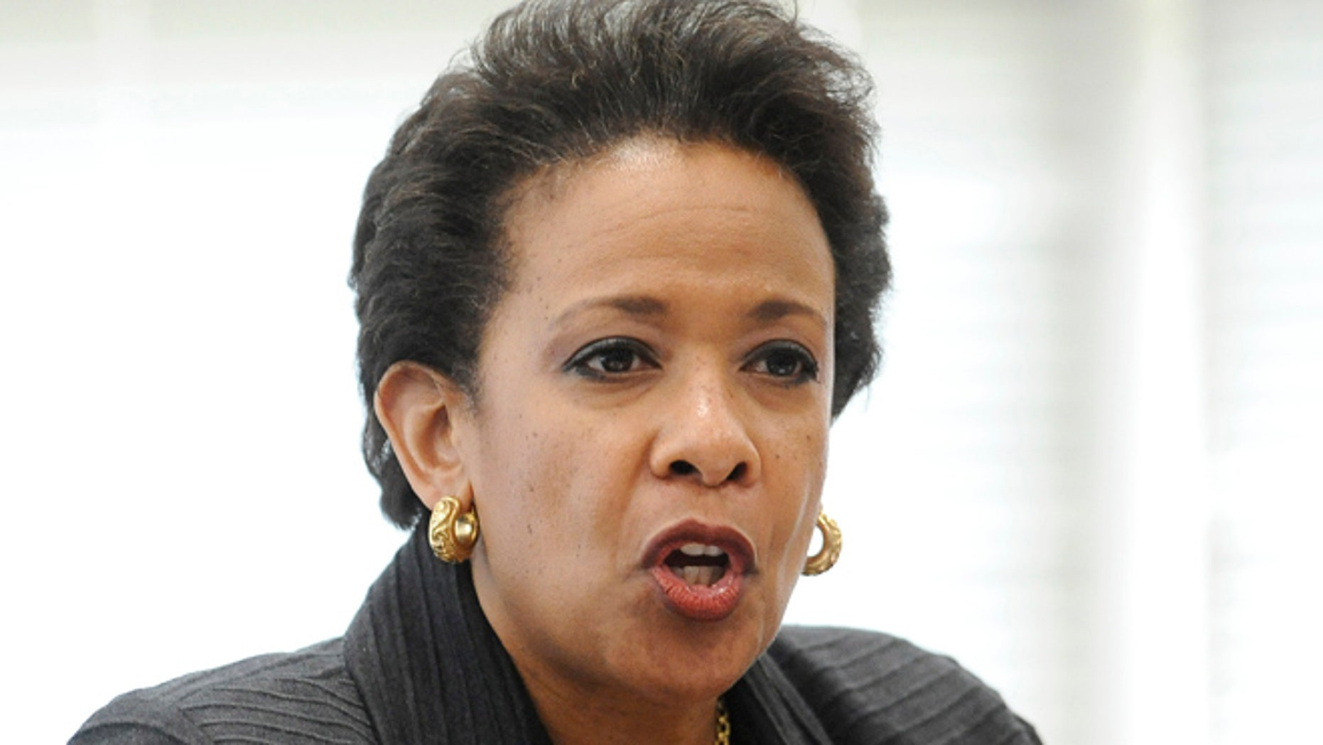 July 21, 2015: Attorney General Loretta Lynch speaks in East Haven, Conn.
