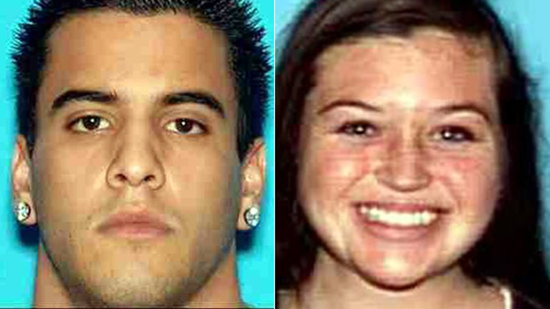 This image provided by the Orange County Sheriff's Department shows hikers Nicholas Cendoya and Kyndall Jack who have been missing since the weekend.