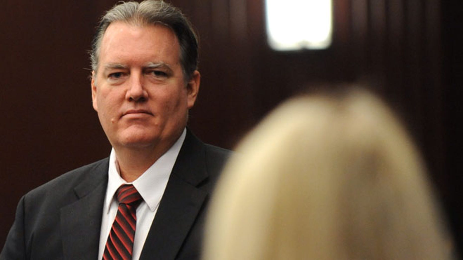 Feb. 10, 2014: Michael Dunn is seen during a recess in his trial in Jacksonville, Fla.