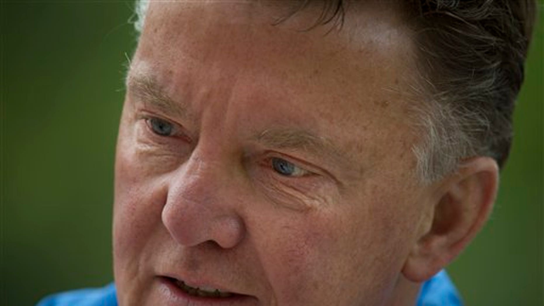 Louis van Gaal, coach of the Dutch national soccer team.