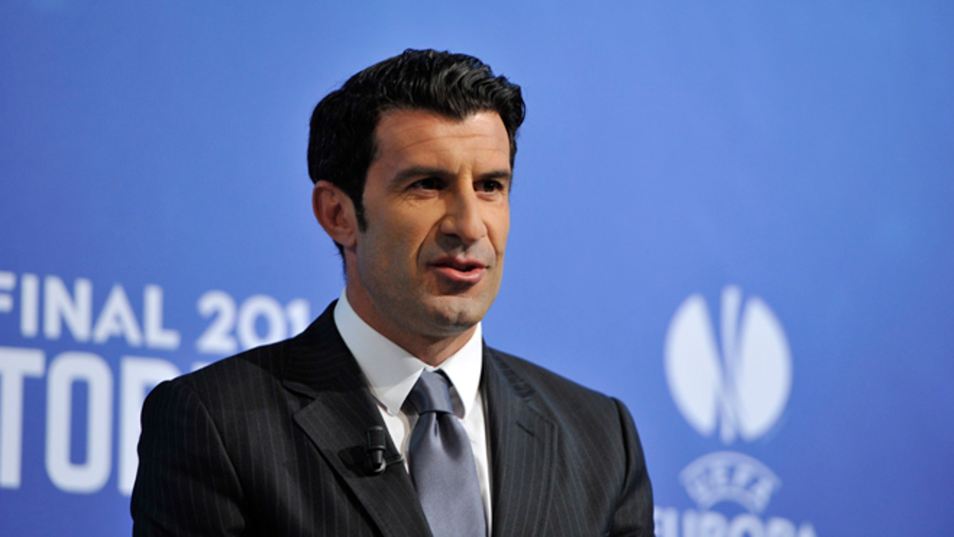Luís Figo on April 11, 2014 in Nyon, Switzerland.
