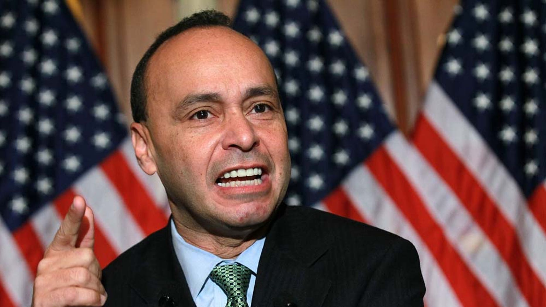 WASHINGTON, DC - DECEMBER 08:  U.S. Rep. Luis Gutierrez (D-IL) speaks during a news conference on the Development, Relief and Education for Alien Minors Act, also known as DREAM Act, on Capitol Hill December 8, 2010 in Washington, DC. The Senate and the House will vote today on the DREAM Act, which would grant young illegal immigrants citizenship if they attend college or join the military.  (Photo by Alex Wong/Getty Images)