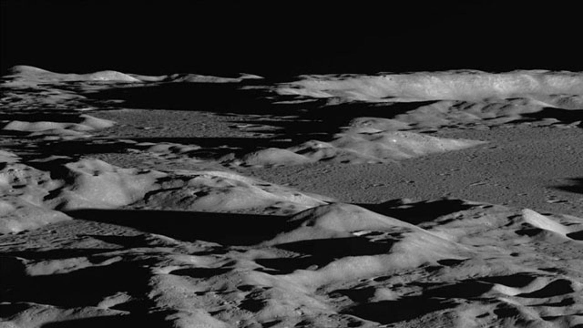 By looking across the landscape rather than straight down, photos from the Lunar Reconnaissance Orbiter emphasize topography and lighting, giving a dramatic view of the lunar terrain.