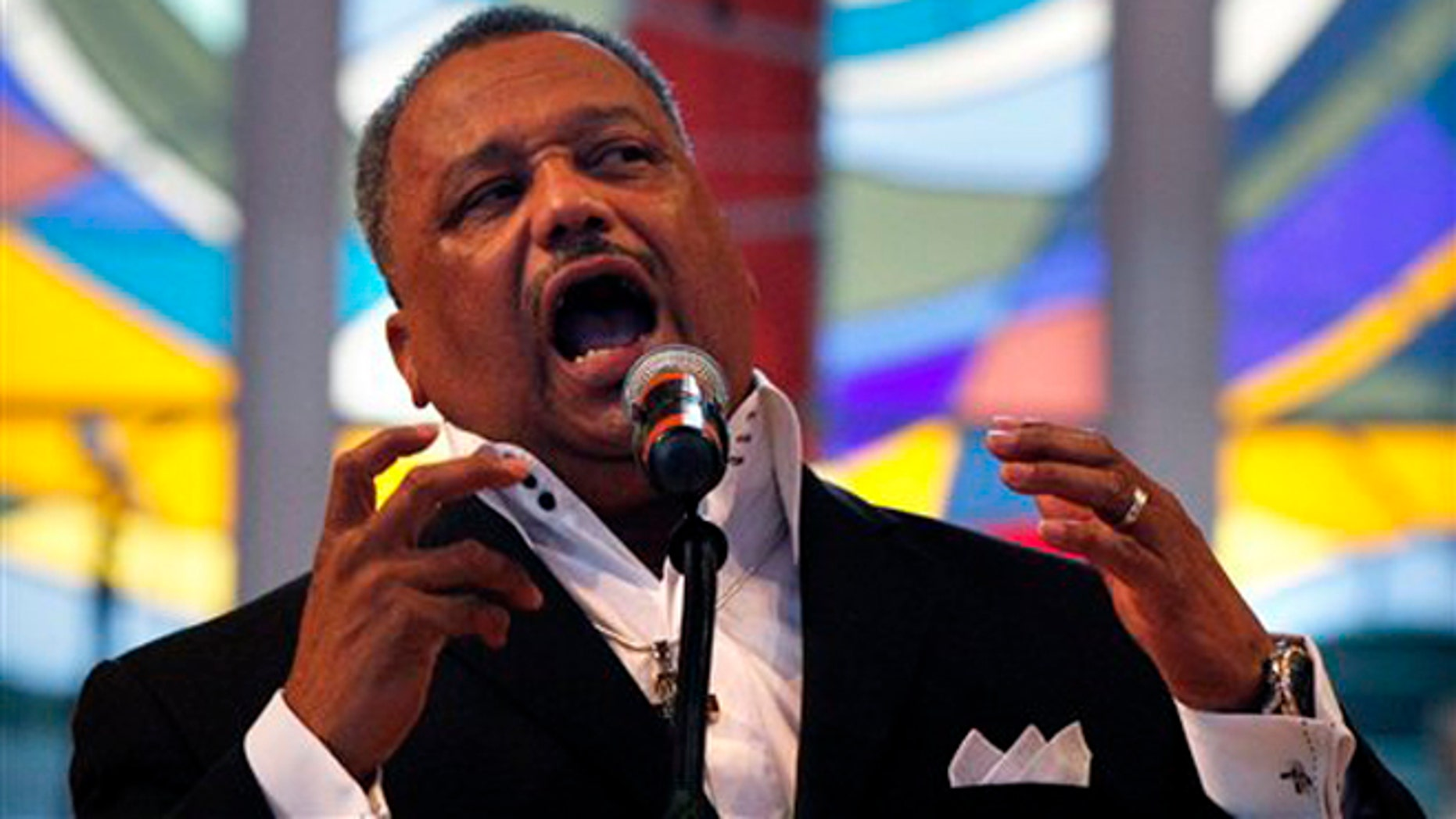 June 3, 2012: Rev. Fred Luter, pastor of the Franklin Ave. Baptist Church, delivers a sermon during Sunday Services at the Church in New Orleans.