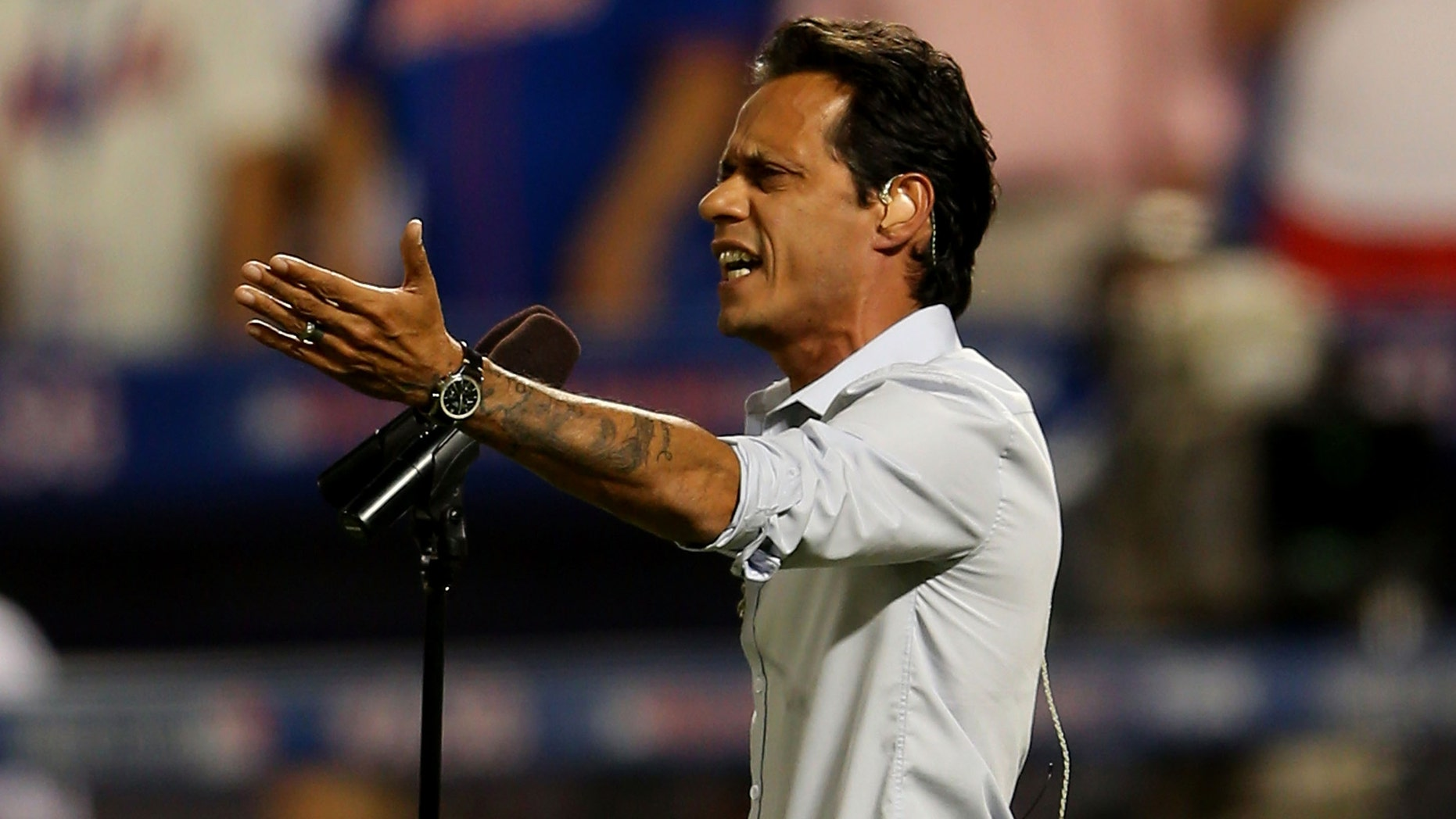 Marc Anthony performs during the 84th MLB All-Star Game on July 16, 2013 at Citi Field in New York City.