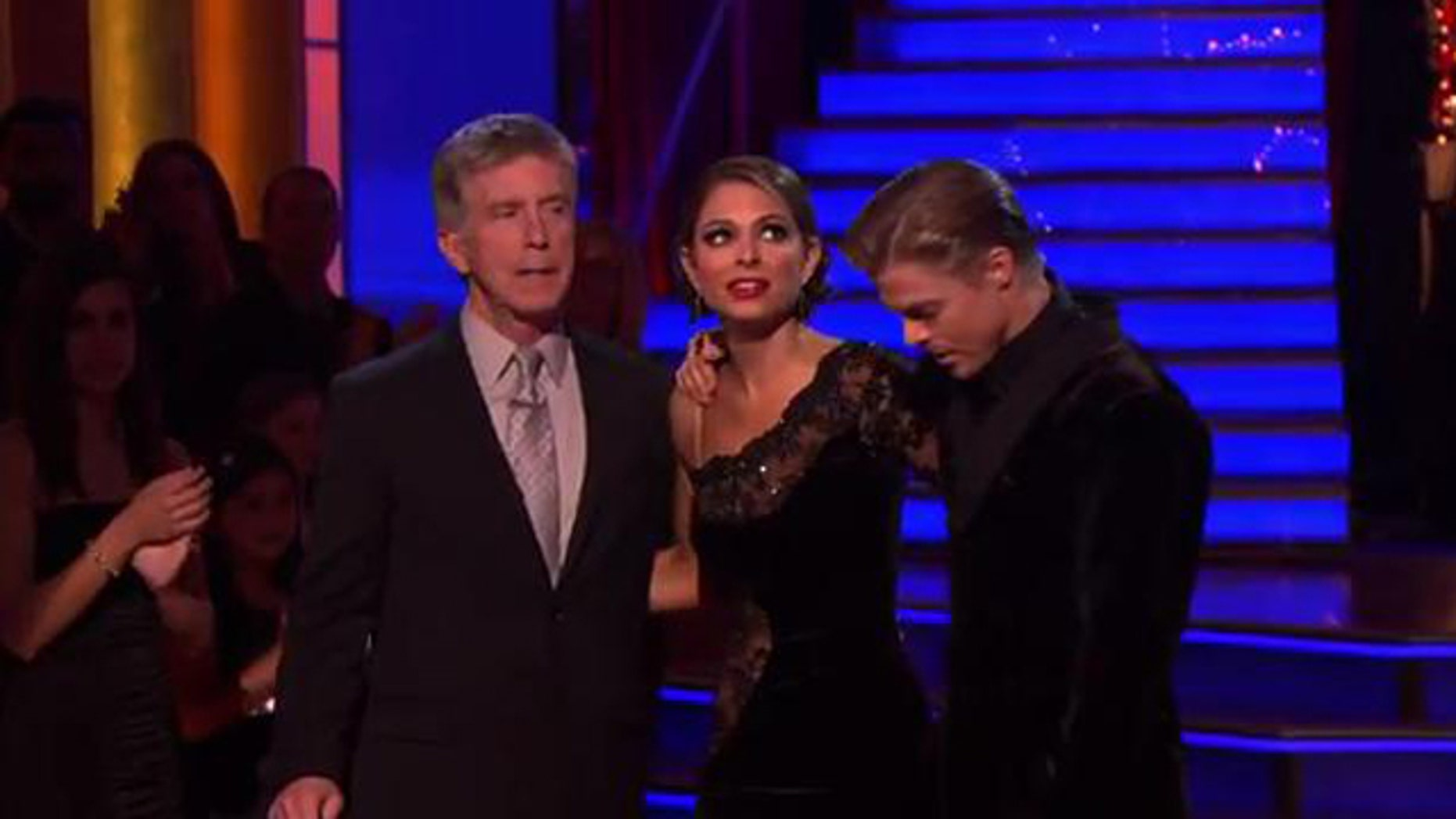 May 14, 2012: TV host Maria Menounos and dance partner Derek Hough Monday night on DWTS.