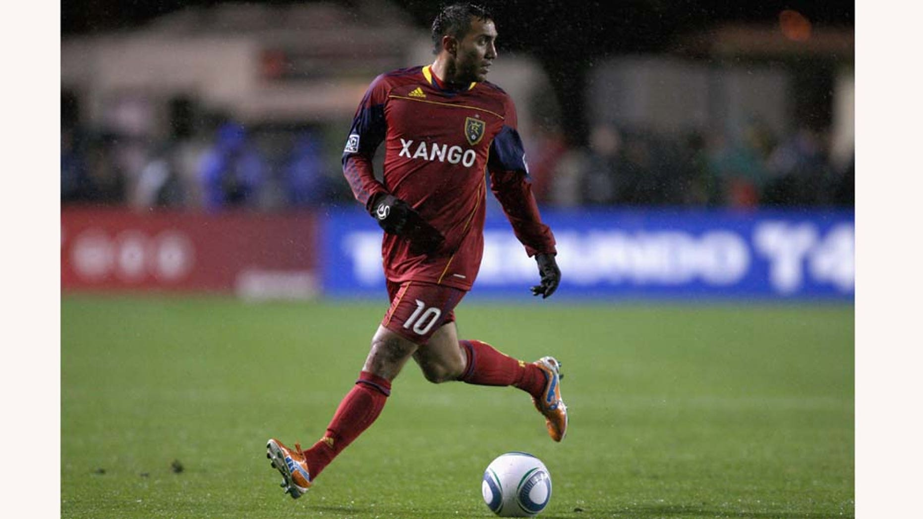 SANTA CLARA, CA - MARCH 19:  Arturo Alvarez #10 of Real Salt Lake in action during their game against the San Jose Earthquakes at Buck Shaw Stadium on March 19, 2011 in Santa Clara, California.  (Photo by Ezra Shaw/Getty Images)