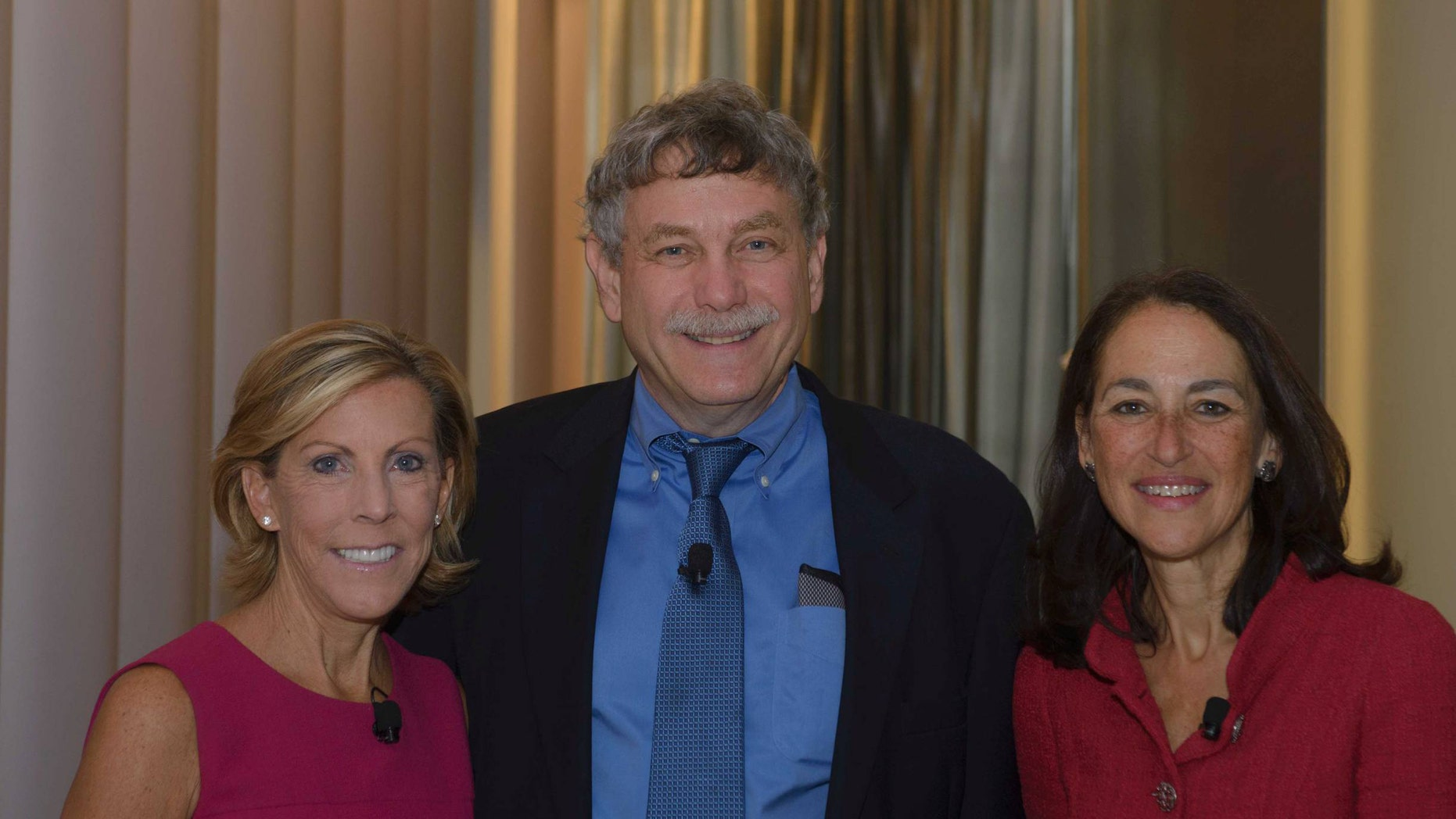 Kathy Giusti, left, with Eric Lander, founding director of the Broad Institute of the Massachusetts Institute of Technology and Harvard University, and Dr. Margaret A. Hamburg, commissioner of the US Food and Drug Administration at an event on September 25, 2013.