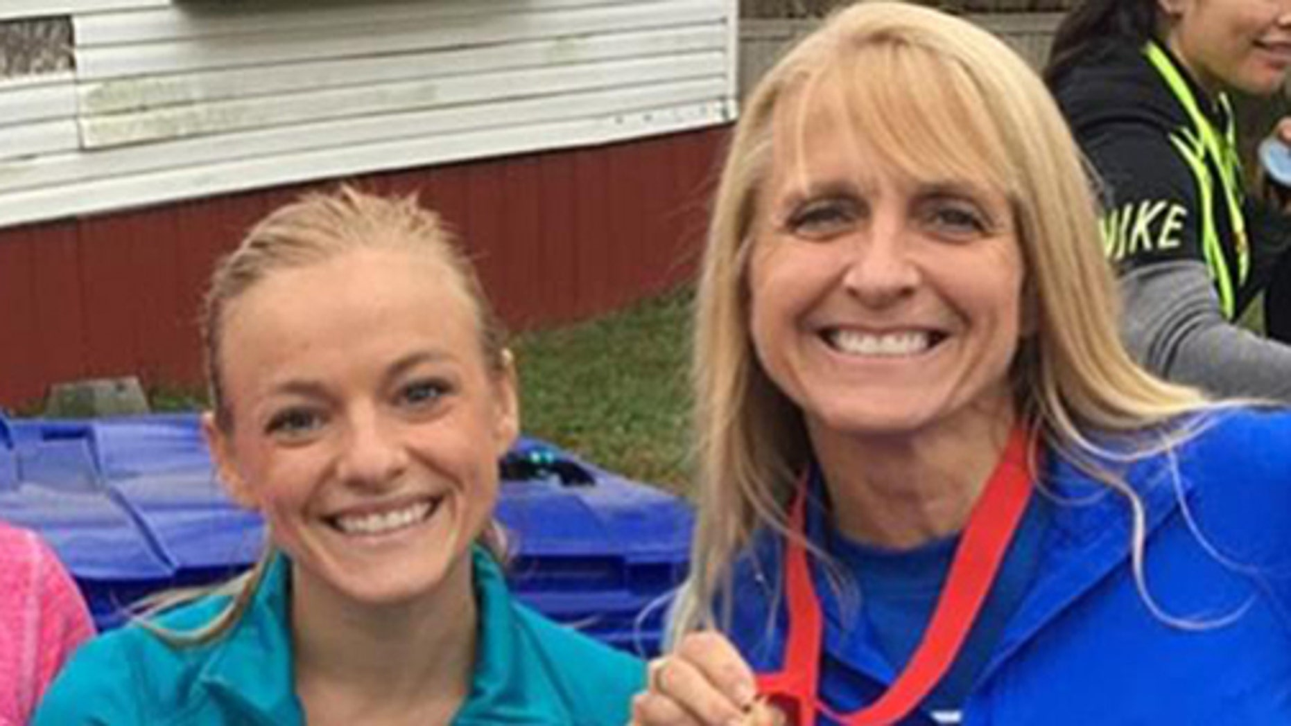 Mackenzie Mckee and mother, Angie Douthit,  ask fans for prayers after Angie's recent cancer diagnosis. Here the pair pose for a photo after a diabetes awareness run  in November 2017.