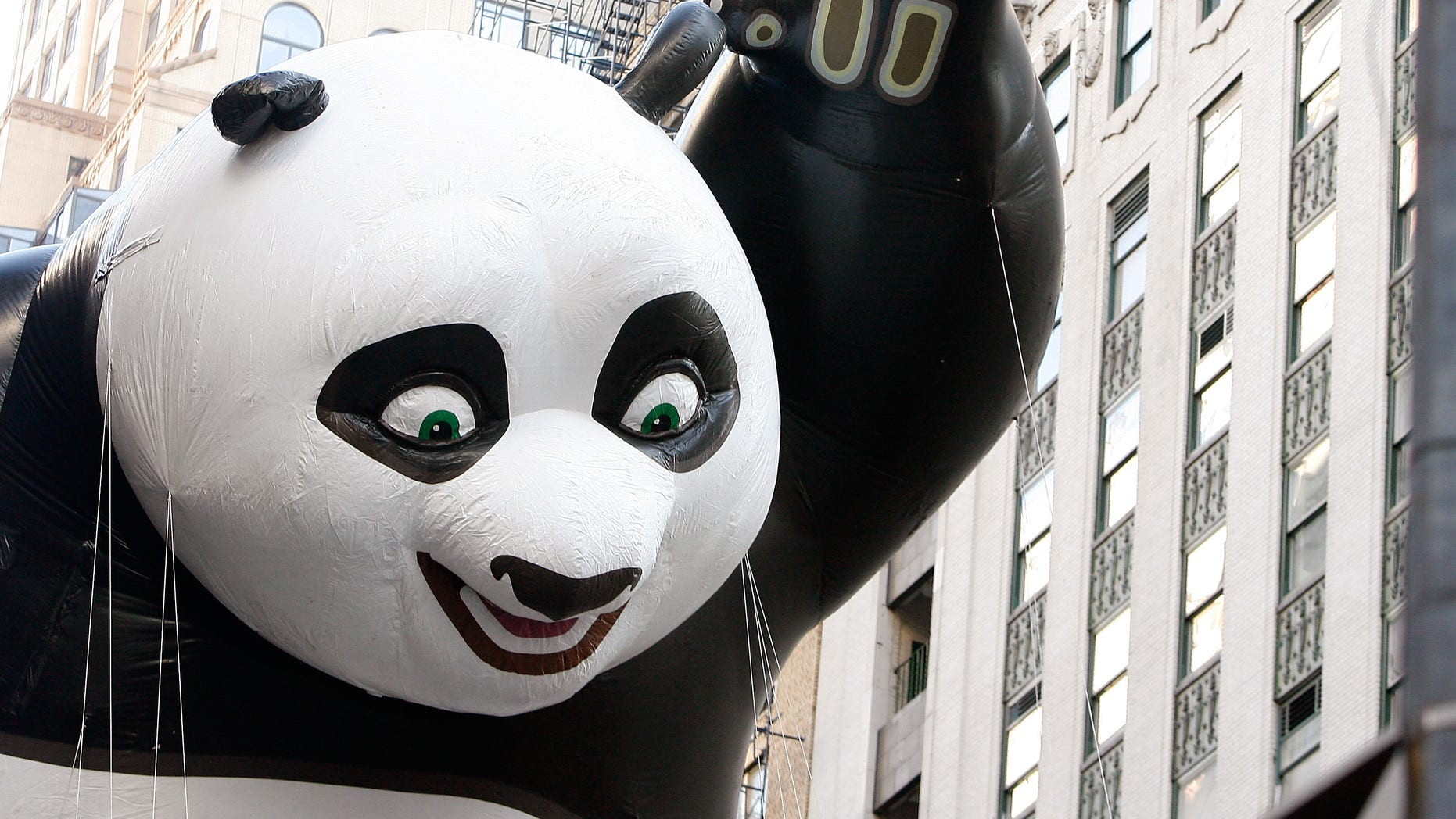 NEW YORK, NY - NOVEMBER 22:  The Kung Fu Panda balloon is seen during the 86th Annual Macy's Thanksgiving Day Parade on November 22, 2012 in New York City.  (Photo by Mike Lawrie/Getty Images)