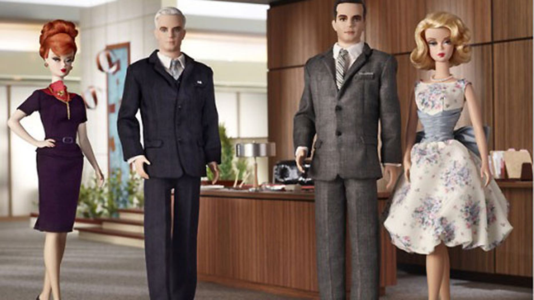 A line of barbies based on the characters of the AMC drama 'Mad Men' is now available for purchase.
