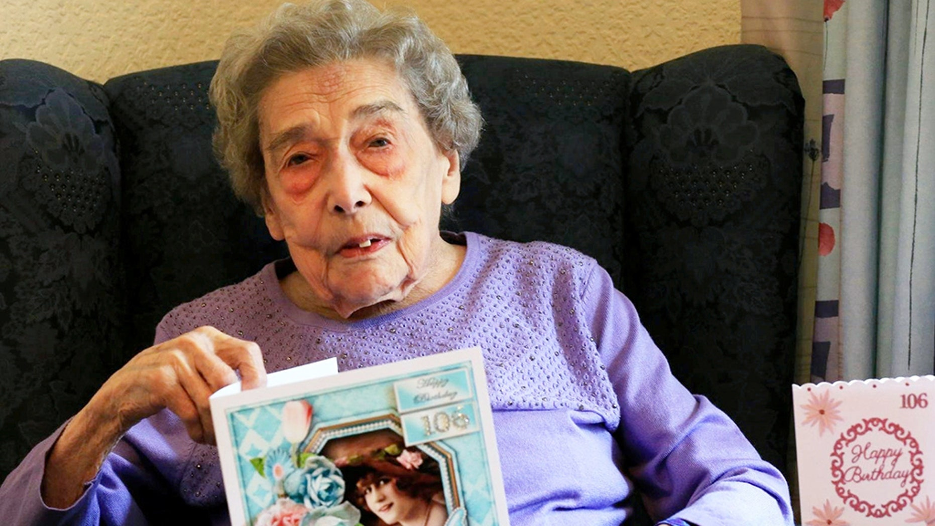 Madeline Dye, 106, said she credited her long life by not having a relationship her whole life.