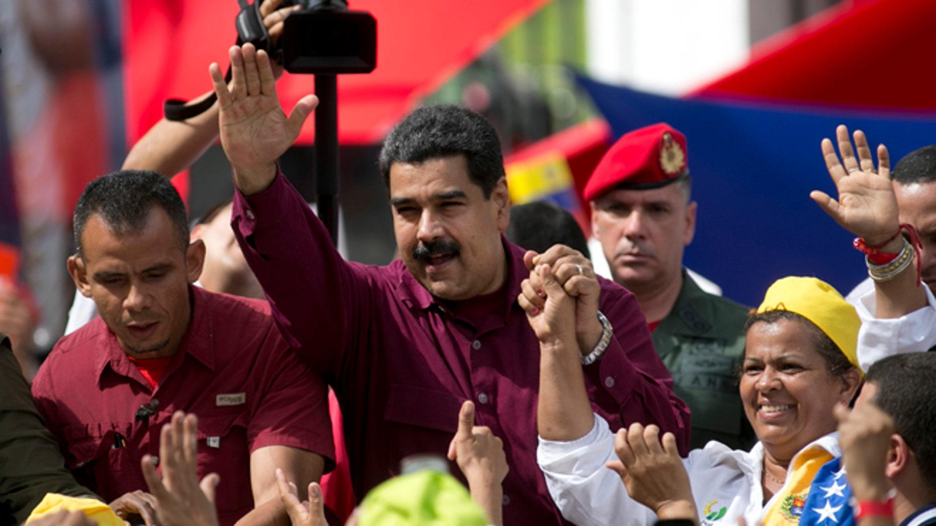 Venezuela's President Nicolas Maduro in Caracas, Venezuela, Friday, Oct. 28, 2016.