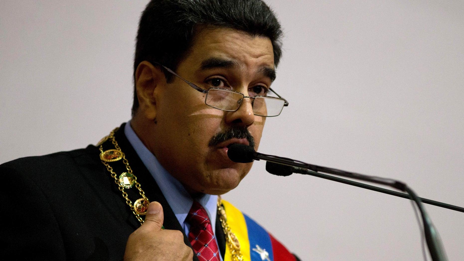President Nicolas Maduro on Jan. 15, 2016.