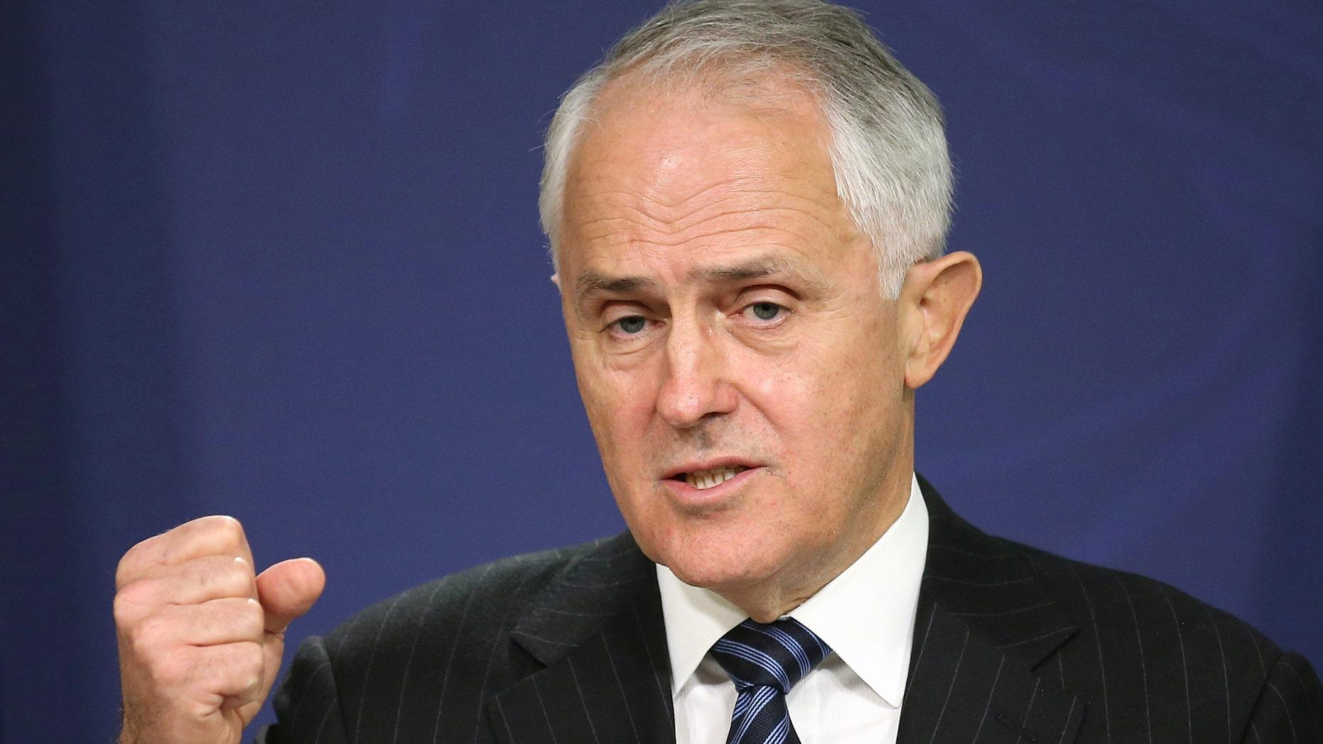 August 10, 2016: Australian Prime Minister Malcolm Turnbull speaks in Sydney.