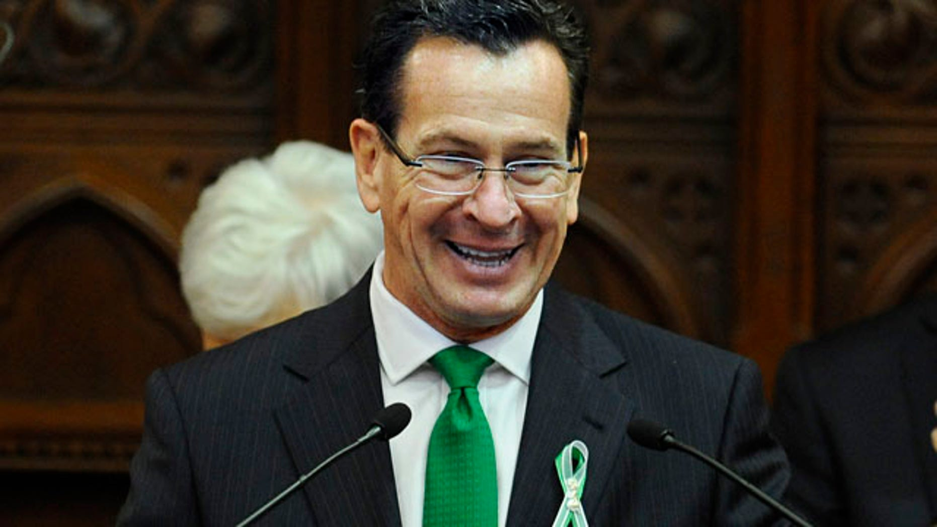 Jan. 9, 2013: Connecticut Gov. Dannel P. Malloy delivers his State of the State address to the House and the Senate at the Capitol.