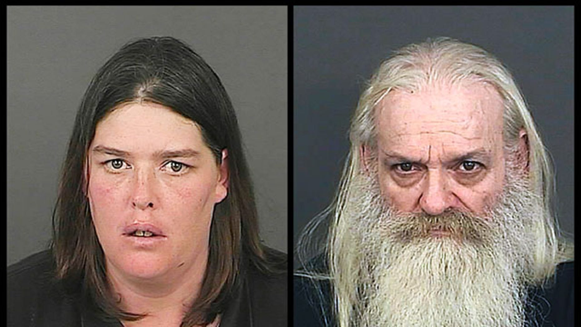 October 8, 2013: This photo combo provided by the Office of the Denver District Attorney's Office shows Lorinda Bailey, left, and Wayne Sperling. Bailey and Sperling, the Denver couple accused of starving their four young sons and keeping them in a filthy apartment strewn with cat feces, urine and flies. (AP Photo)
