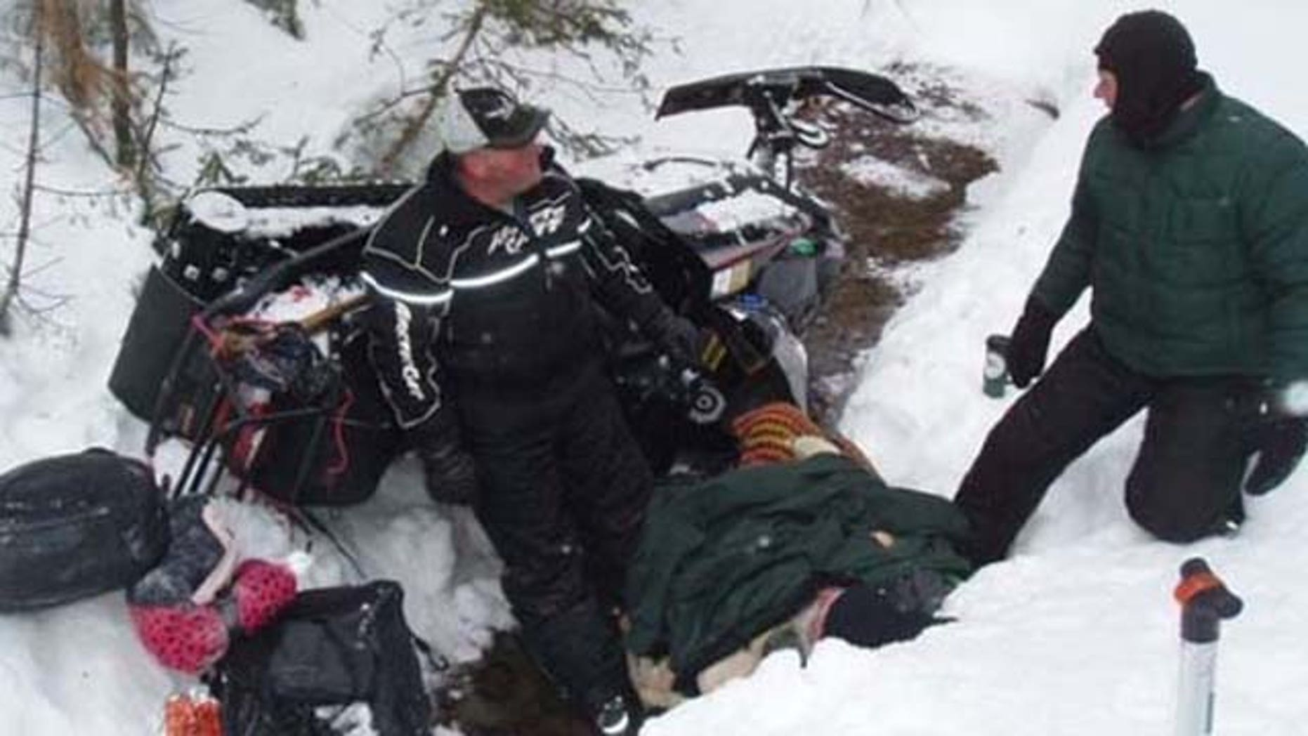 April 3, 2013: 64-year-old Paul Lessard was trapped under a snowmobile for almost a day.