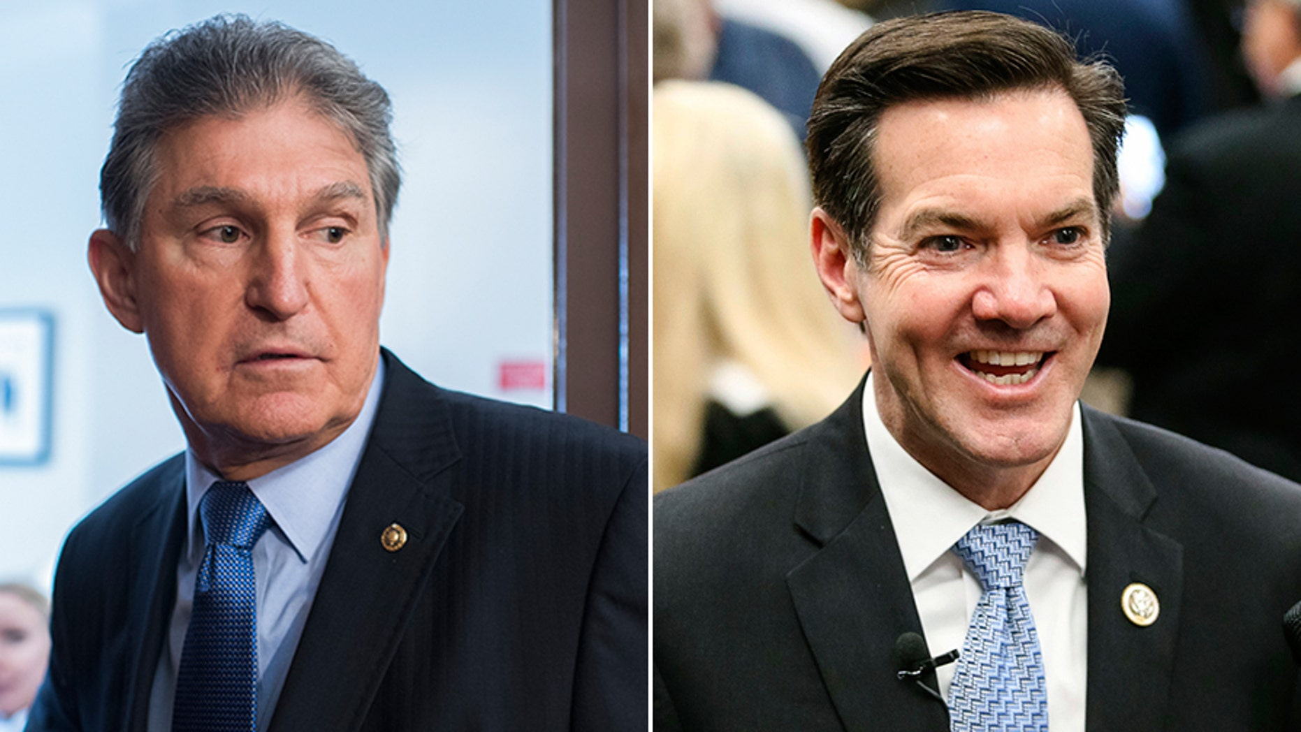 Sen. Joe Manchin (left) and Rep. Evan Jenkins, both of West Virginia