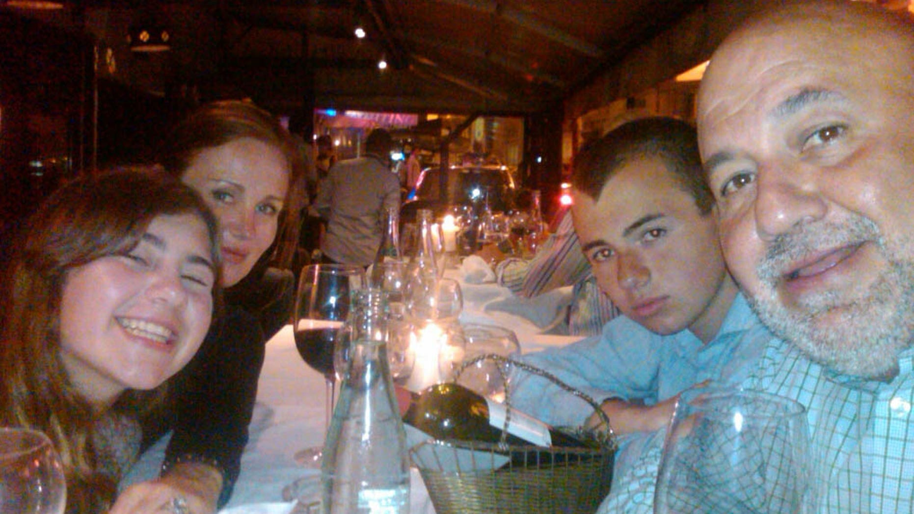 Me with my wife Katarina, my daughter Olivia and my son Ryan in the south of France.