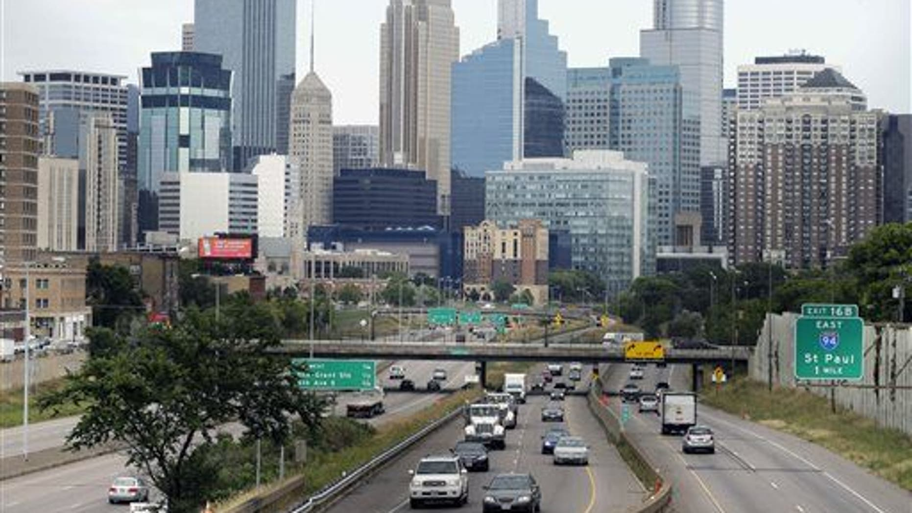 The Minneapolis skyline is shown; Thomas Sonnenberg was killed in his Minneapolis home on Friday.