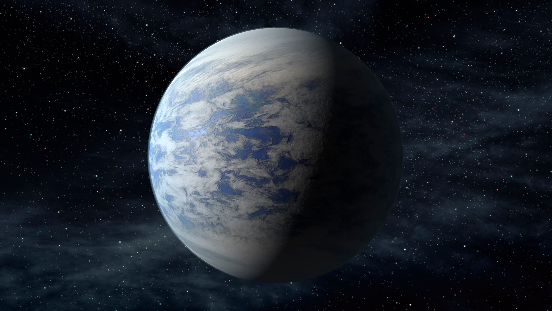 This artist's rendition provided by NASA shows Kepler-69c, a super-Earth-size planet in the habitable zone of a star like our sun, located about 2,700 light-years from Earth in the constellation Cygnus.