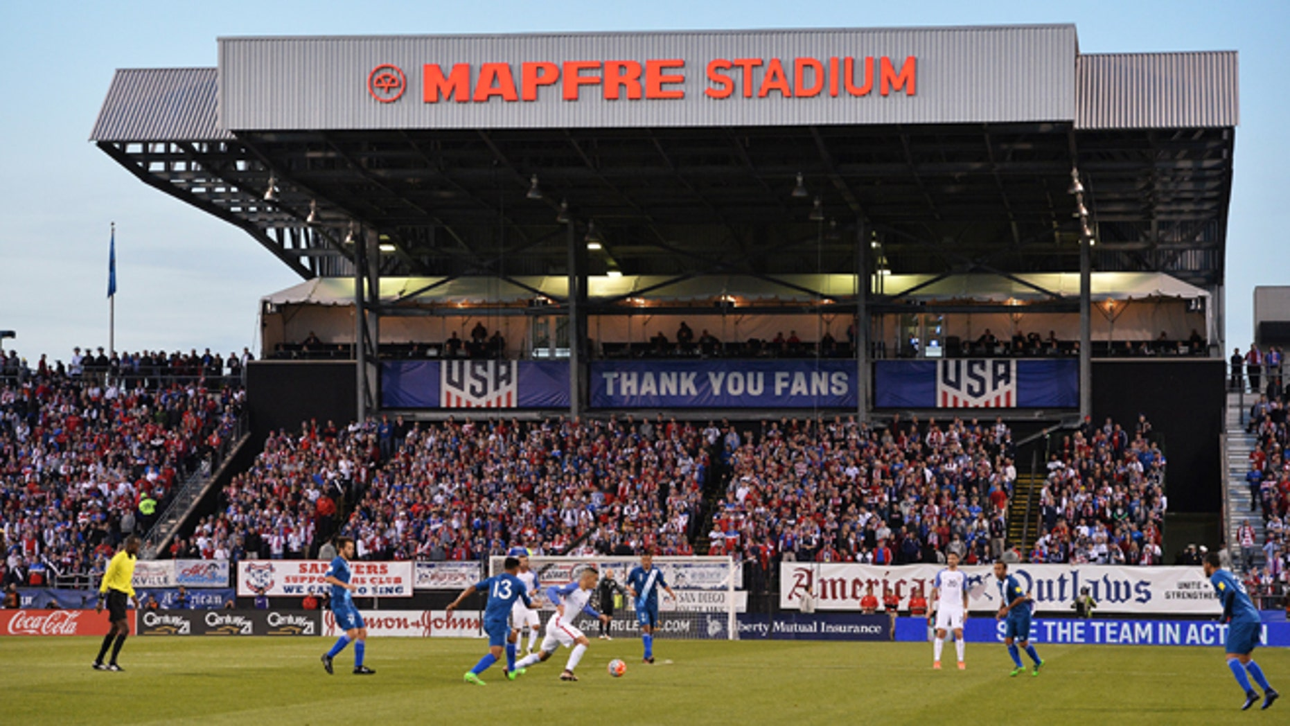 COLUMBUS, OH - MARCH 29:  The United States Men's National Team plays Guatemala in the first half during the FIFA 2018  World Cup qualifier on March 29, 2016 at MAPFRE Stadium in Columbus, Ohio.  (Photo by Jamie Sabau/Getty Images)