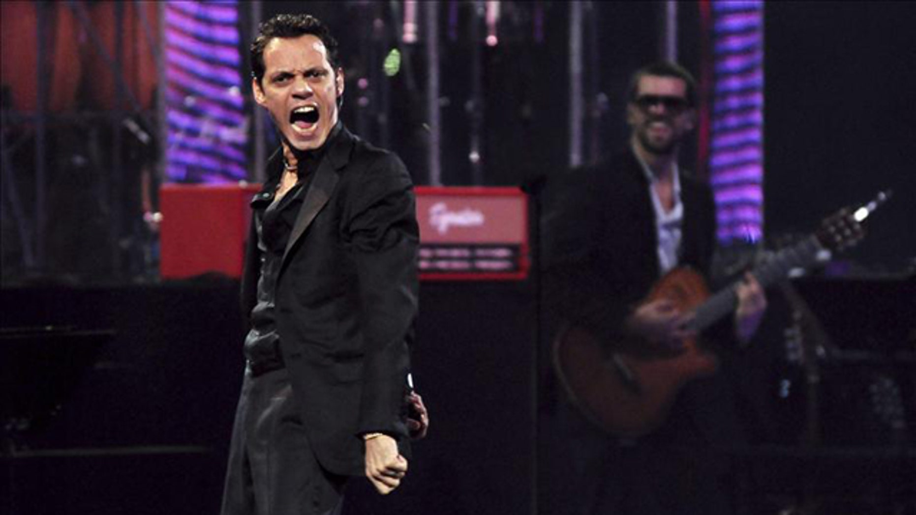 Feb. 23, 2012: Puerto Rican-born singer US singer Marc Anthony performs as part 53th Viña del Mar Song Festival, in Viña del Mar, Chile.
