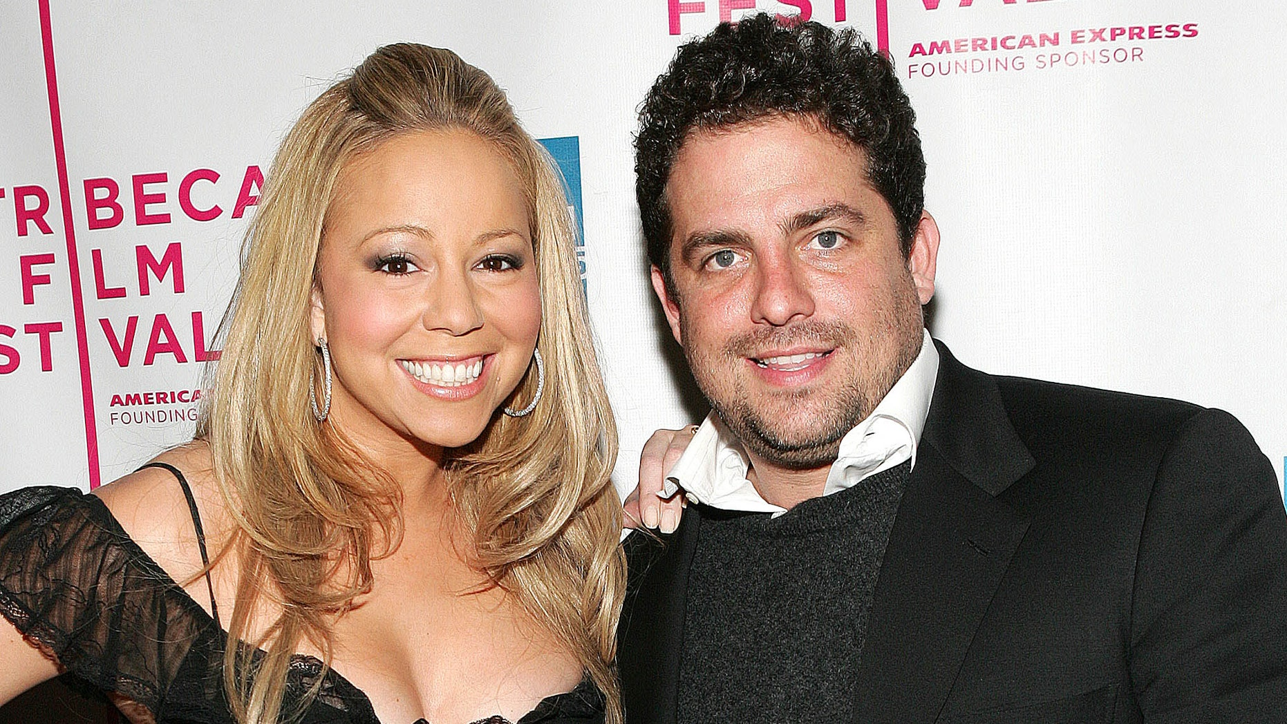 """NEW YORK - APRIL 19:  Singer Mariah Carey and Director Brett Ratner attend """"The Interpreter"""" premiere at the Ziegfeld Theatre April 19, 2005 in New York City.  (Photo by Evan Agostini/Getty Images)"""