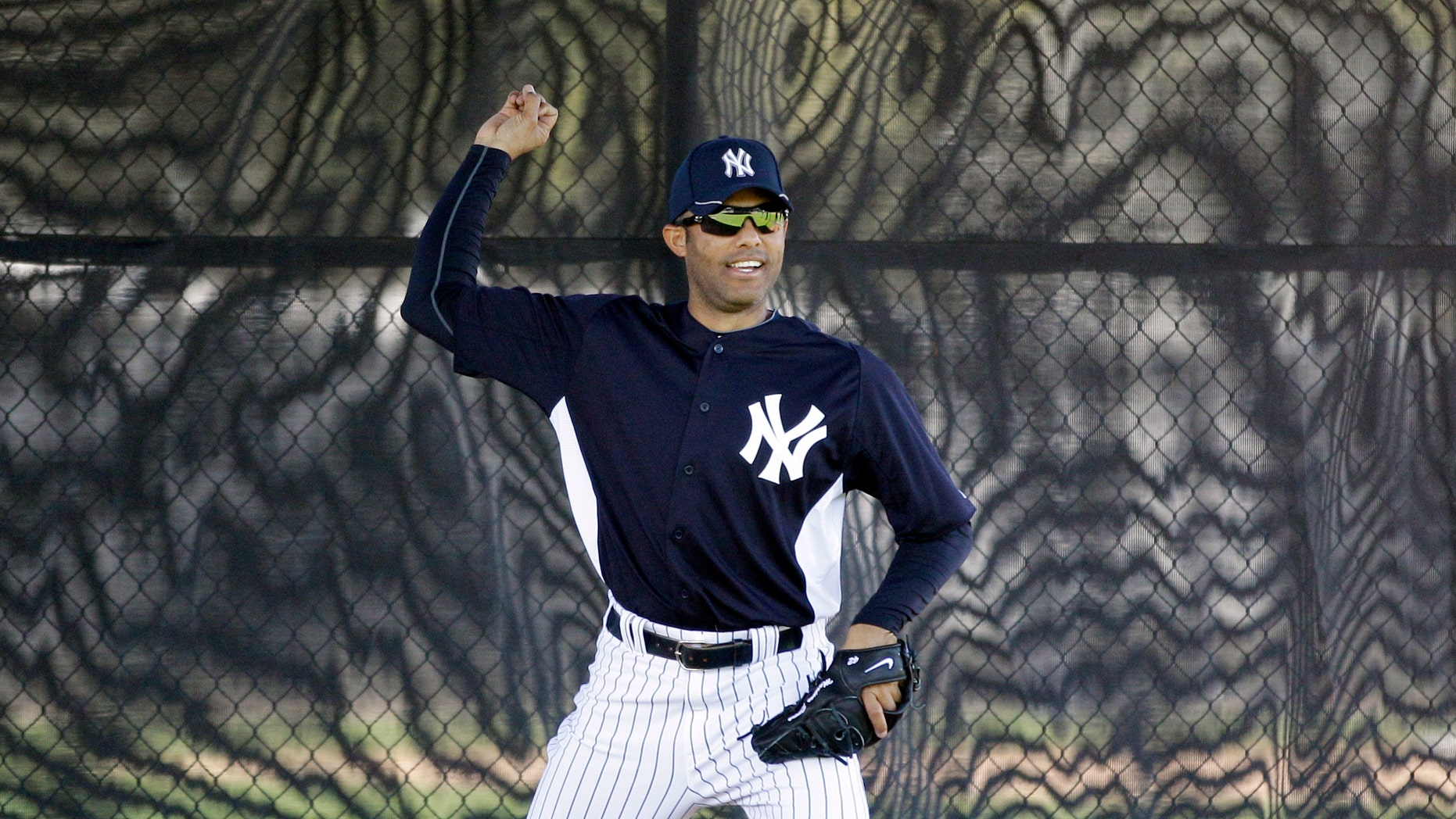 Feb. 20, 2012: New York Yankees' Mariano Rivera practices at baseball spring training in Tampa, Fla. (AP)