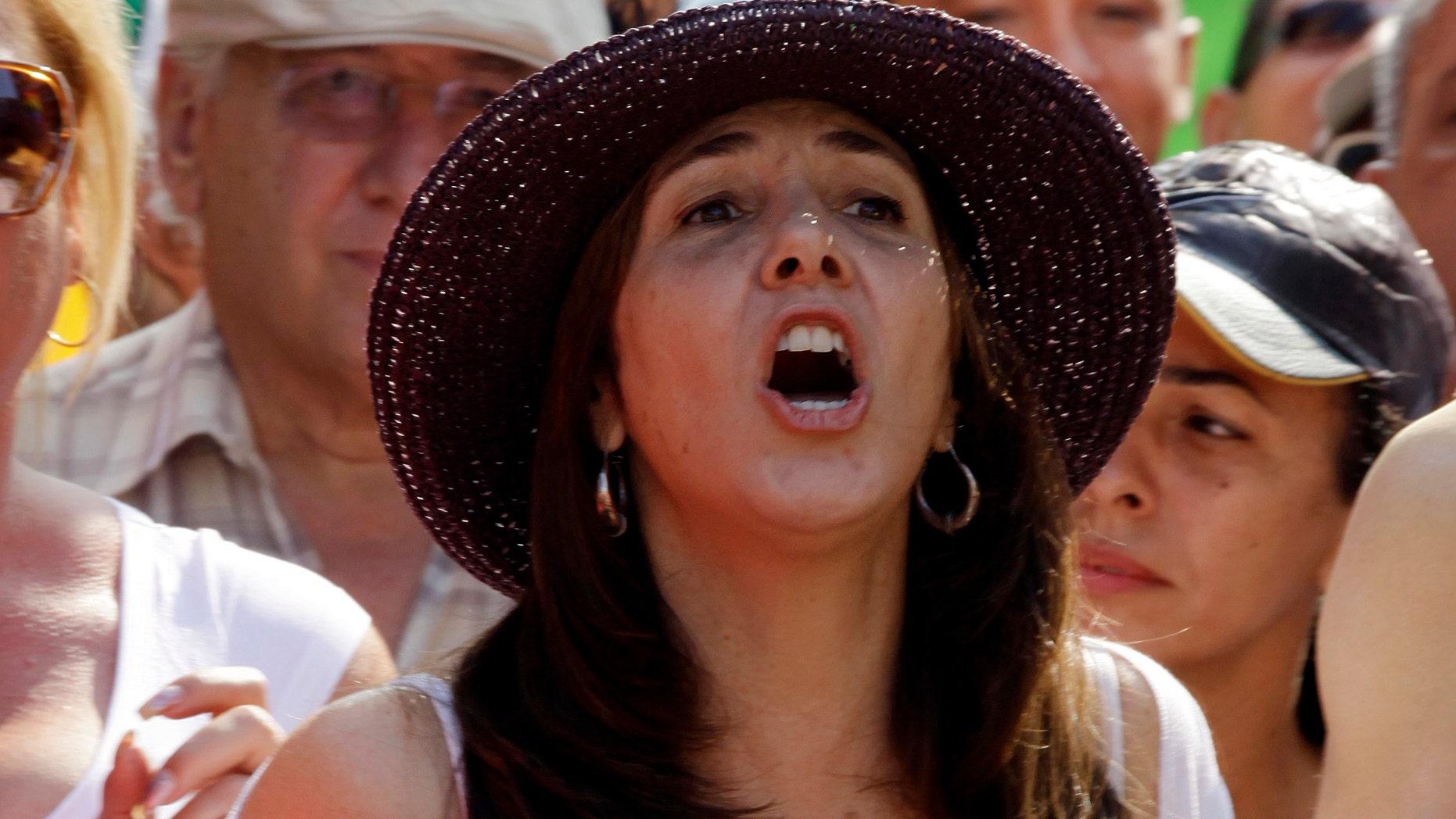 Mariela Castro, daughter of Cuba's President Raul Castro. (AP Photo/Javier Galeano)