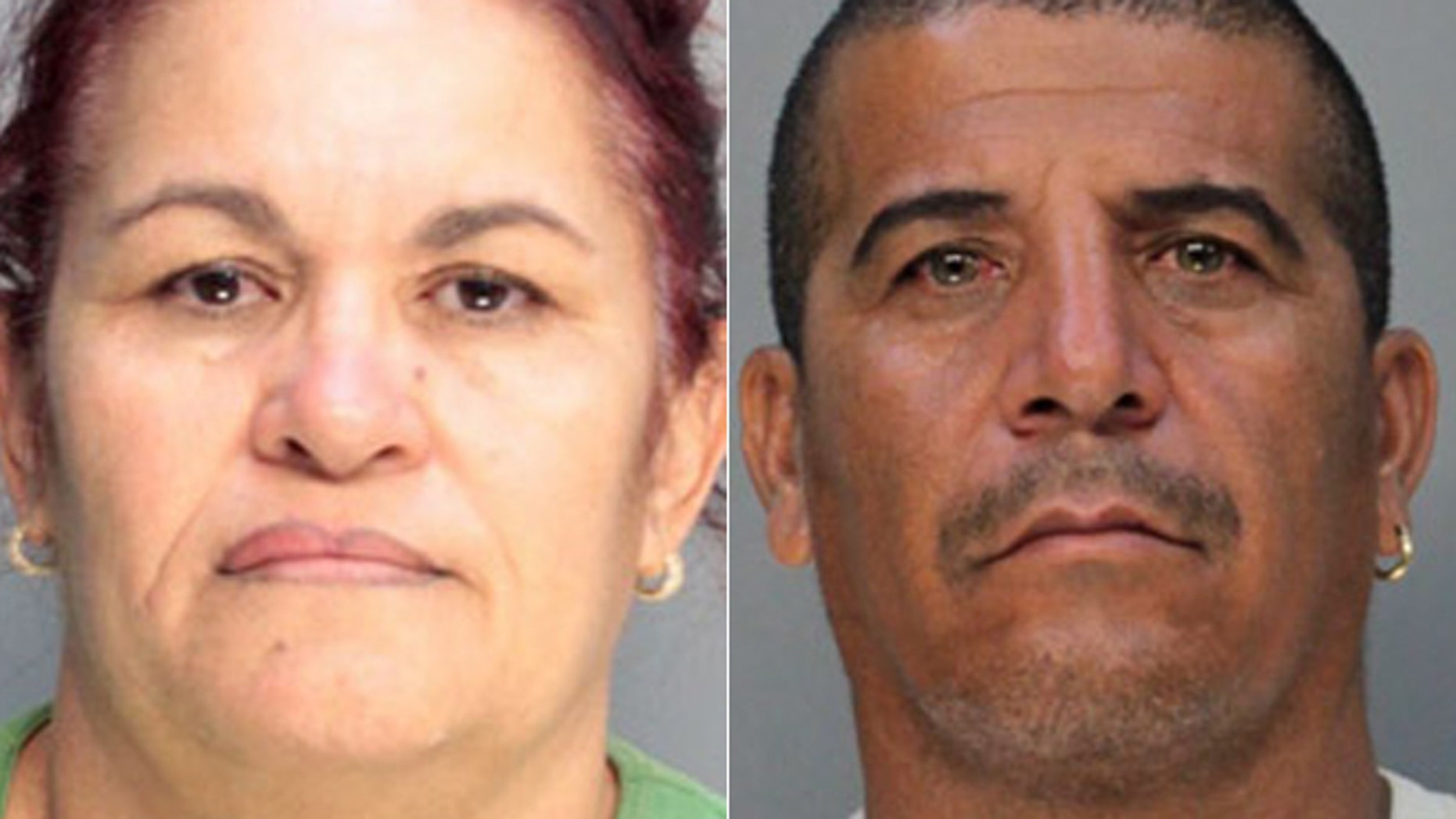 Lazara Lopez and Julio Valdes were charged with drug possession and trafficking, according to CBS Miami.